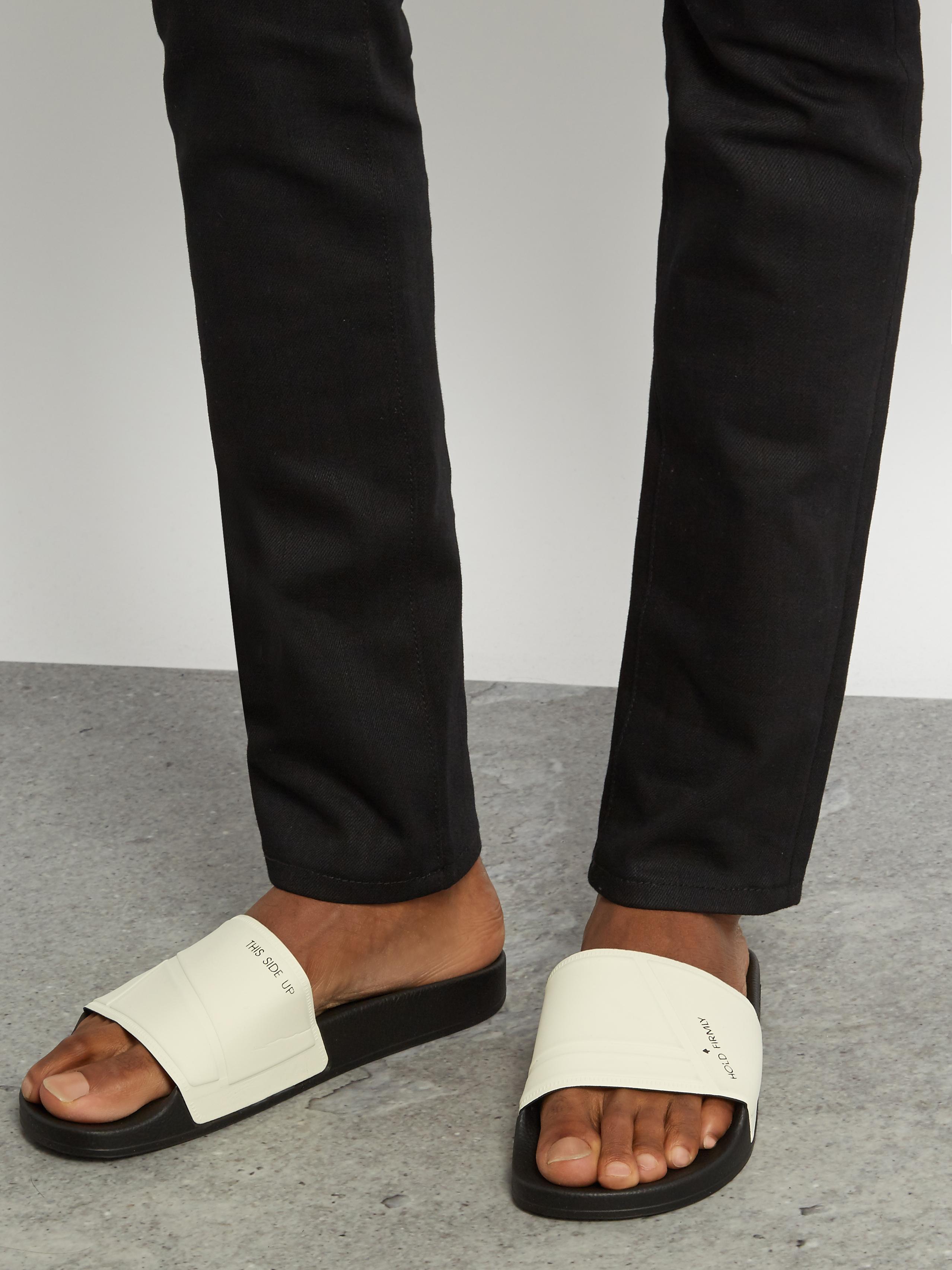 0e40146684e2 Lyst - adidas By Raf Simons Bunny Adilette Pool Slides in Black for Men