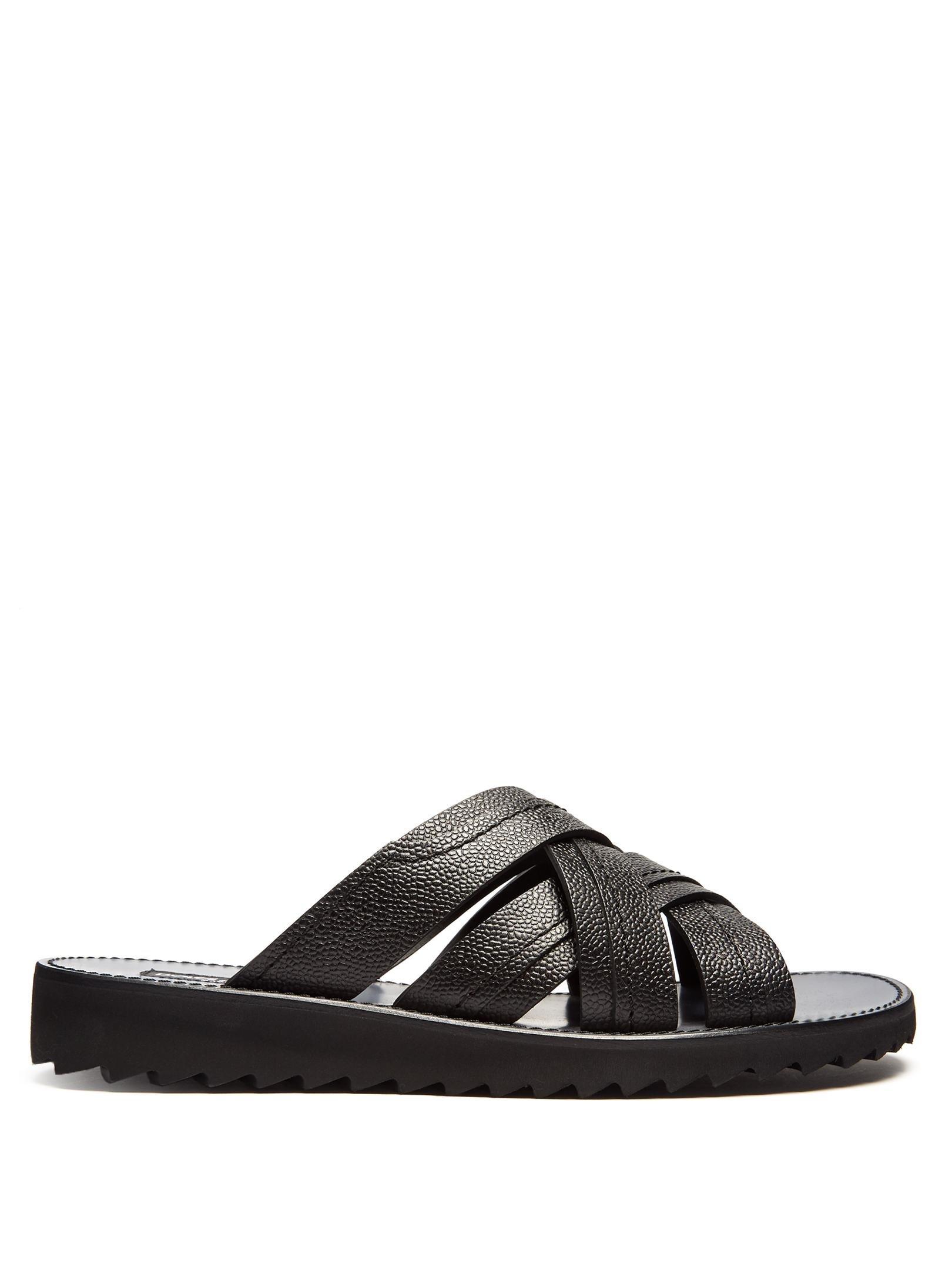 Dolce & gabbana Multi-strap Leather Sandals in Black for ...