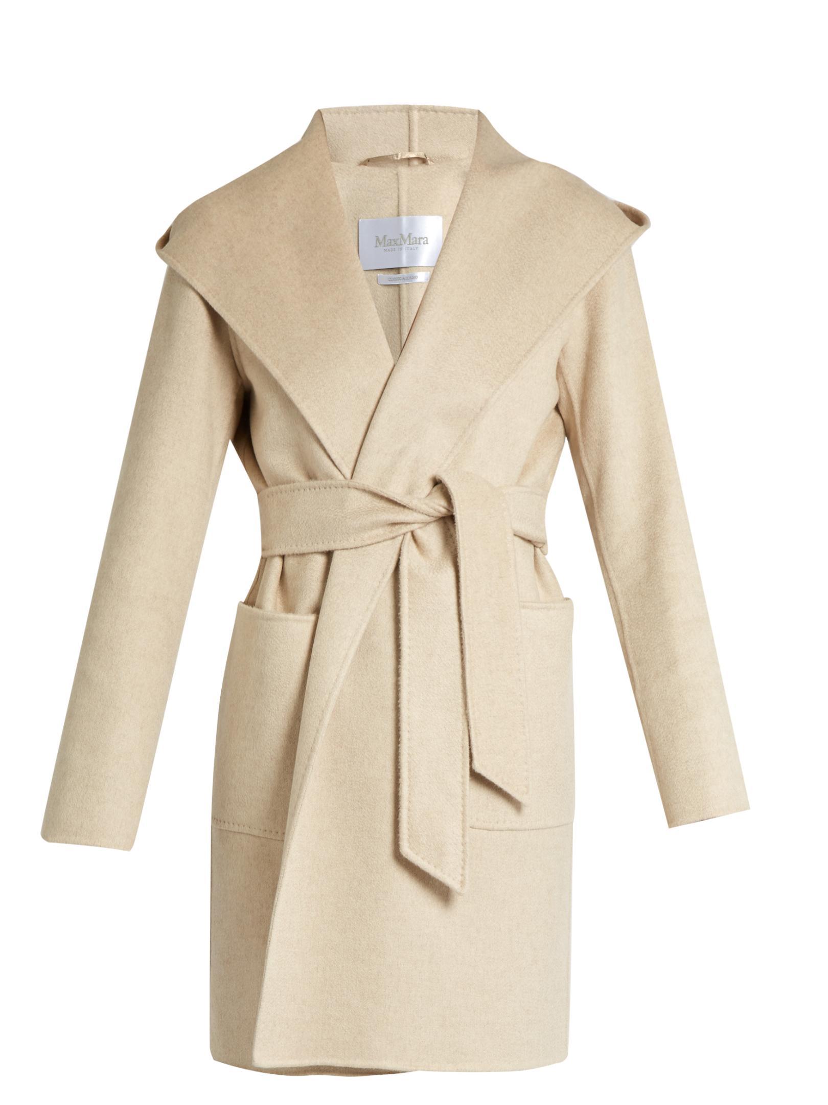 max mara fata coat in natural lyst. Black Bedroom Furniture Sets. Home Design Ideas