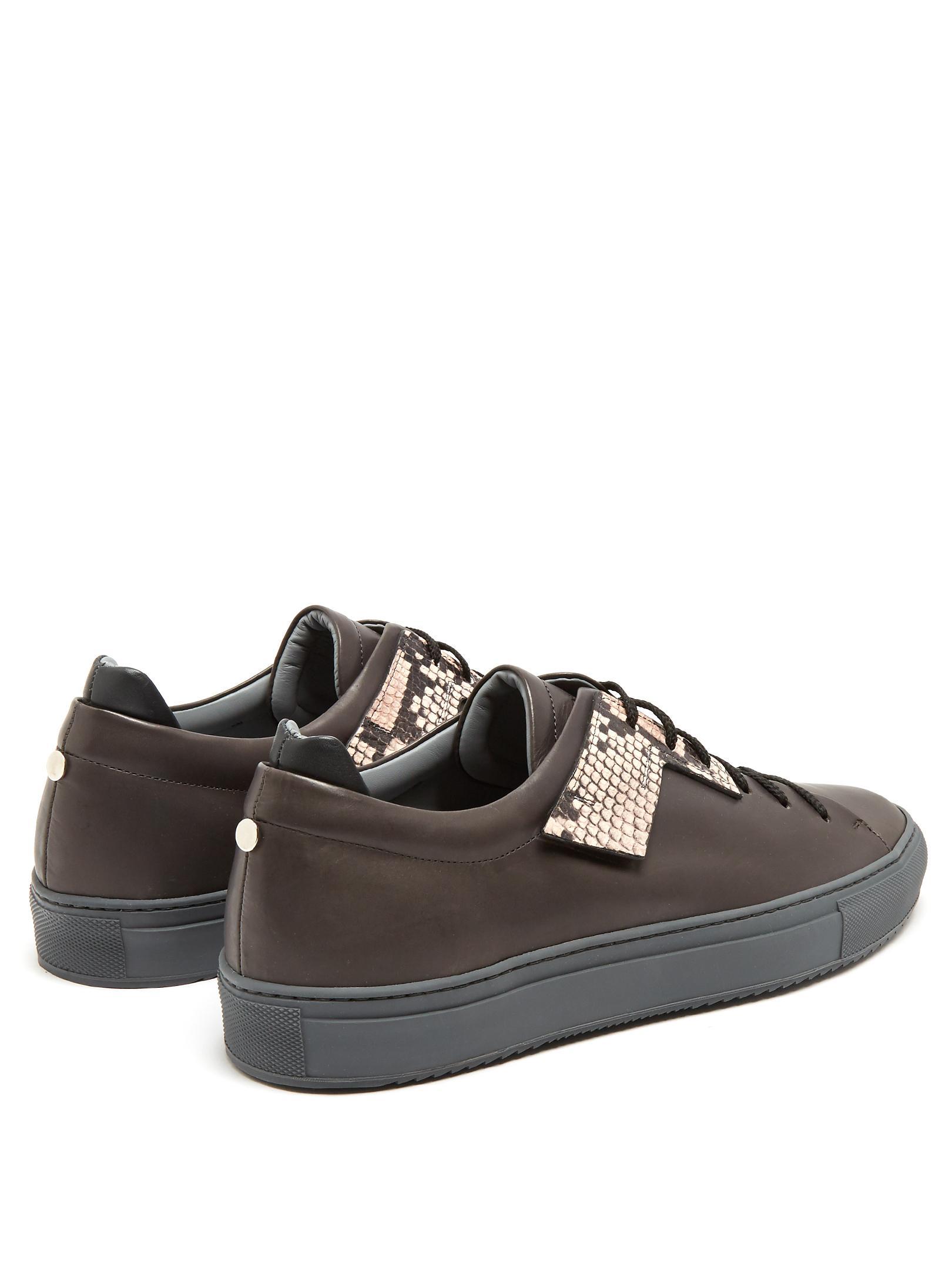 Flat Black Shoes Grey Lac