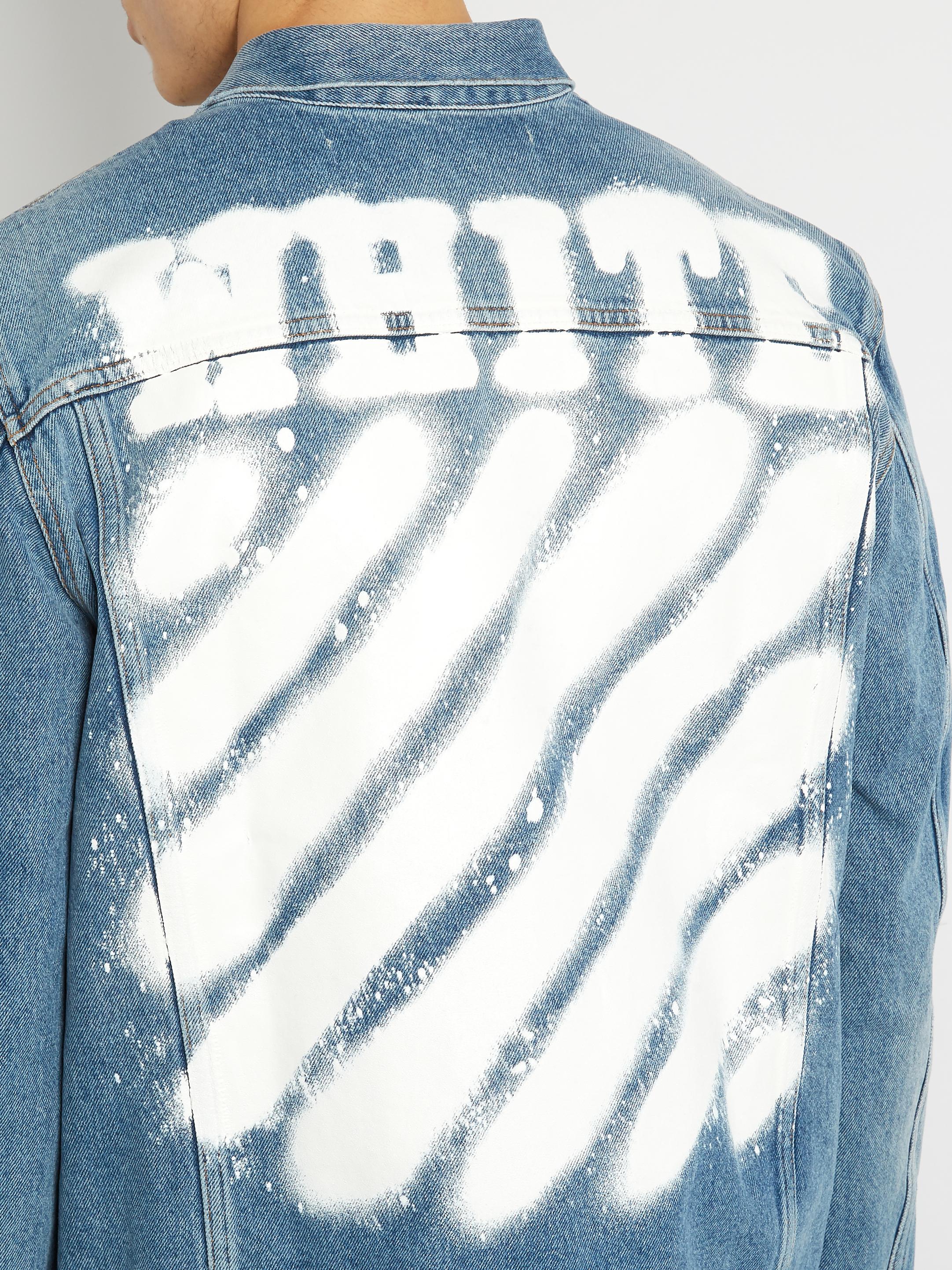 Lyst Off White C O Virgil Abloh Spray Paint Denim Jacket