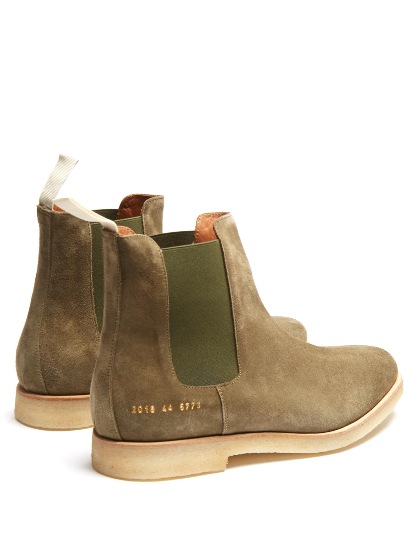 Common Projects Suede Chelsea Boots For Men Lyst