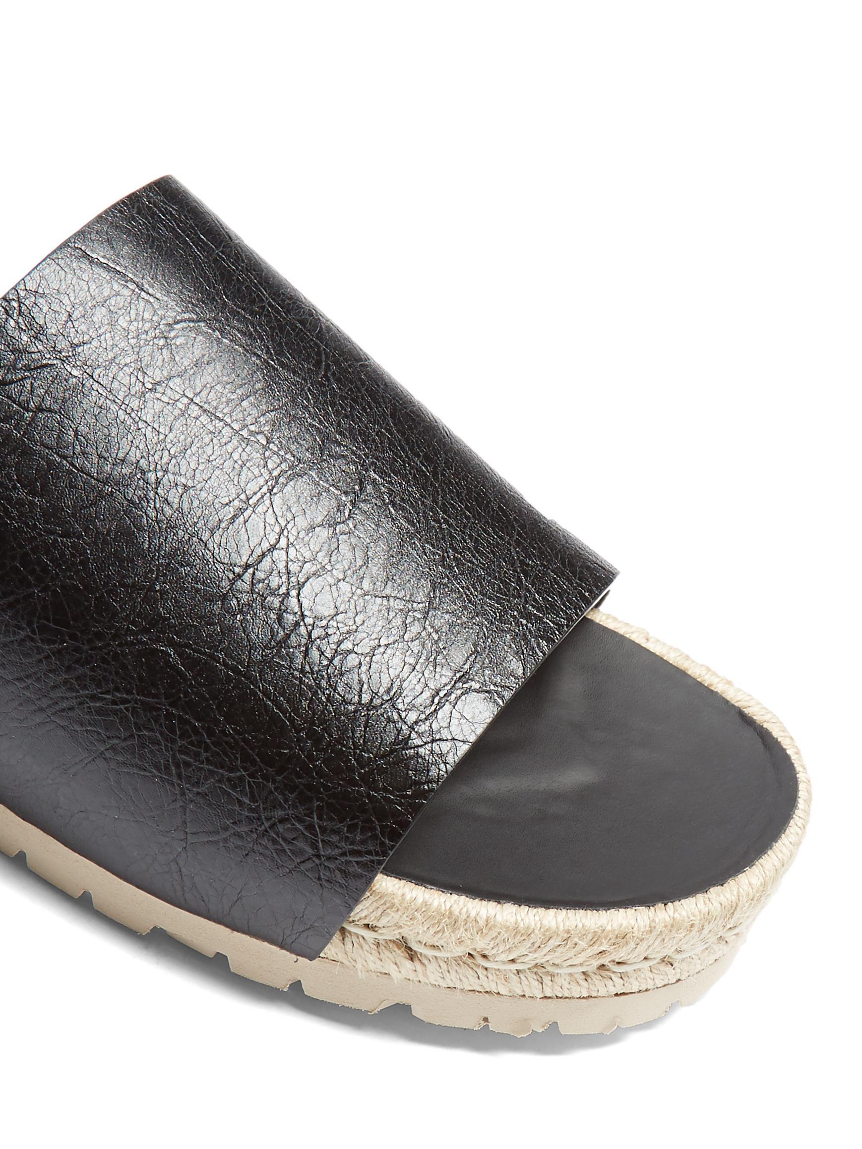 Balenciaga Leather Slides For Men Lyst