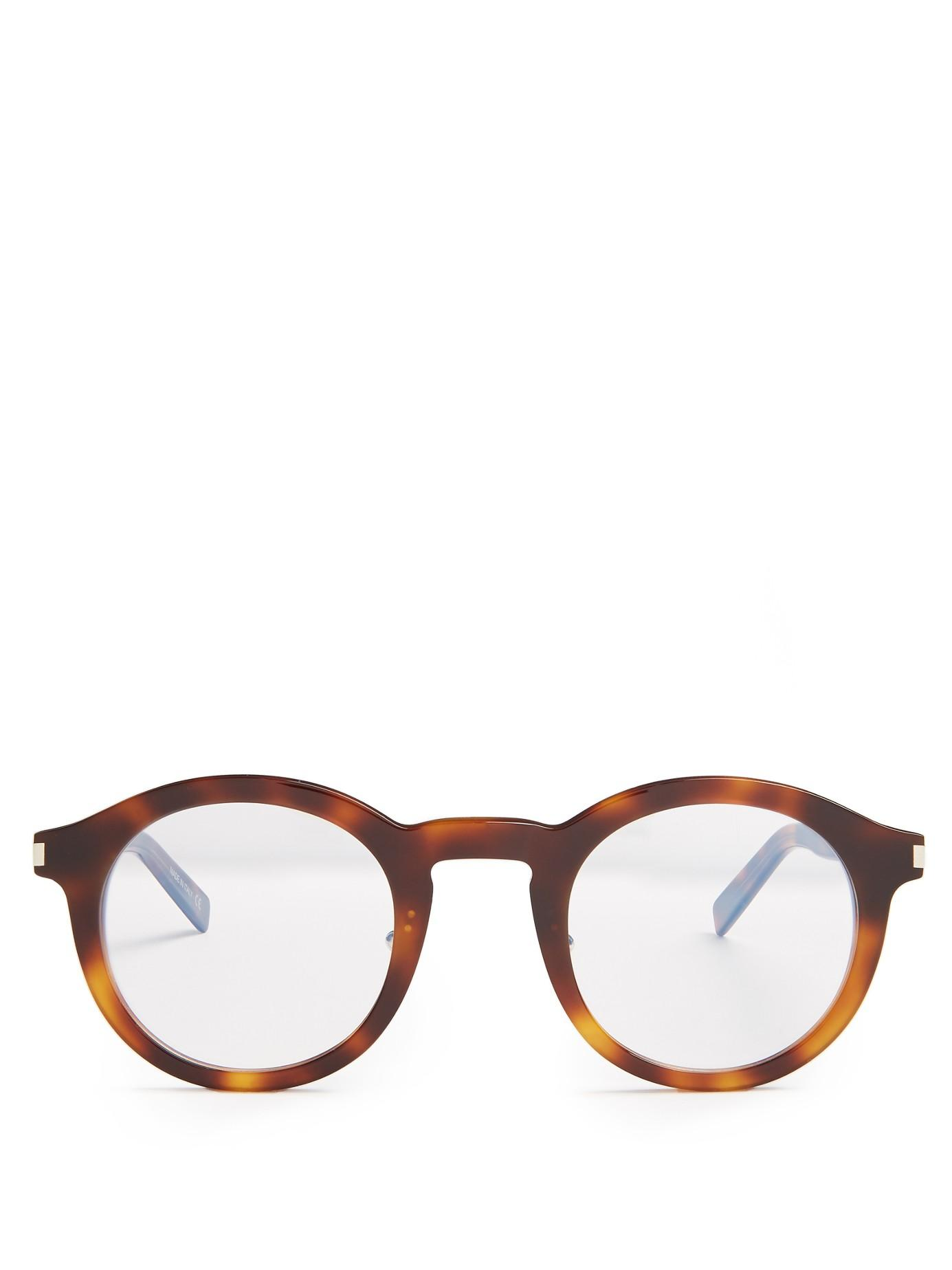 Saint laurent Round-frame Acetate Glasses Lyst