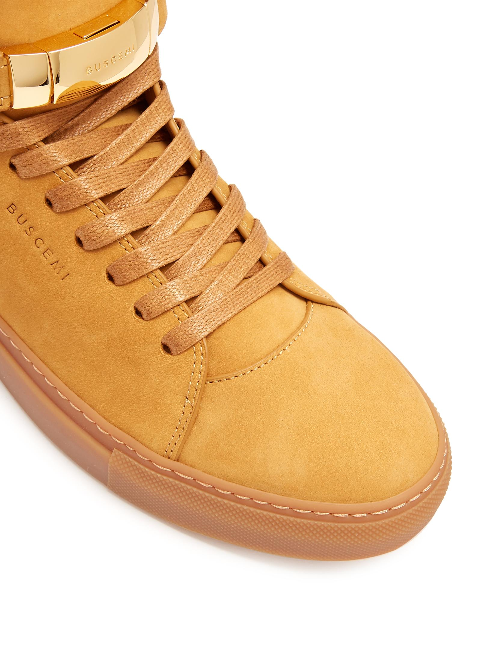 Buscemi Core Clip Suede High-top Suede Sneakers for Men