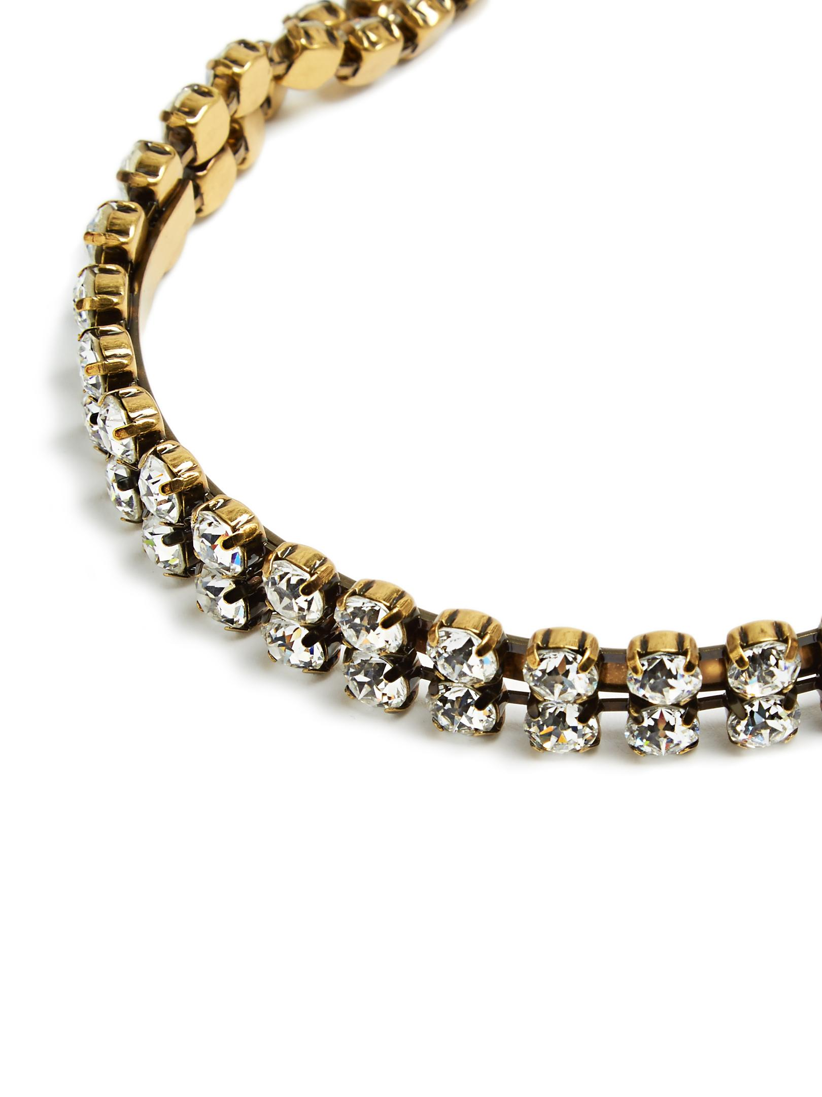 Balenciaga Crystal-embellished Necklace in Gold (Metallic)