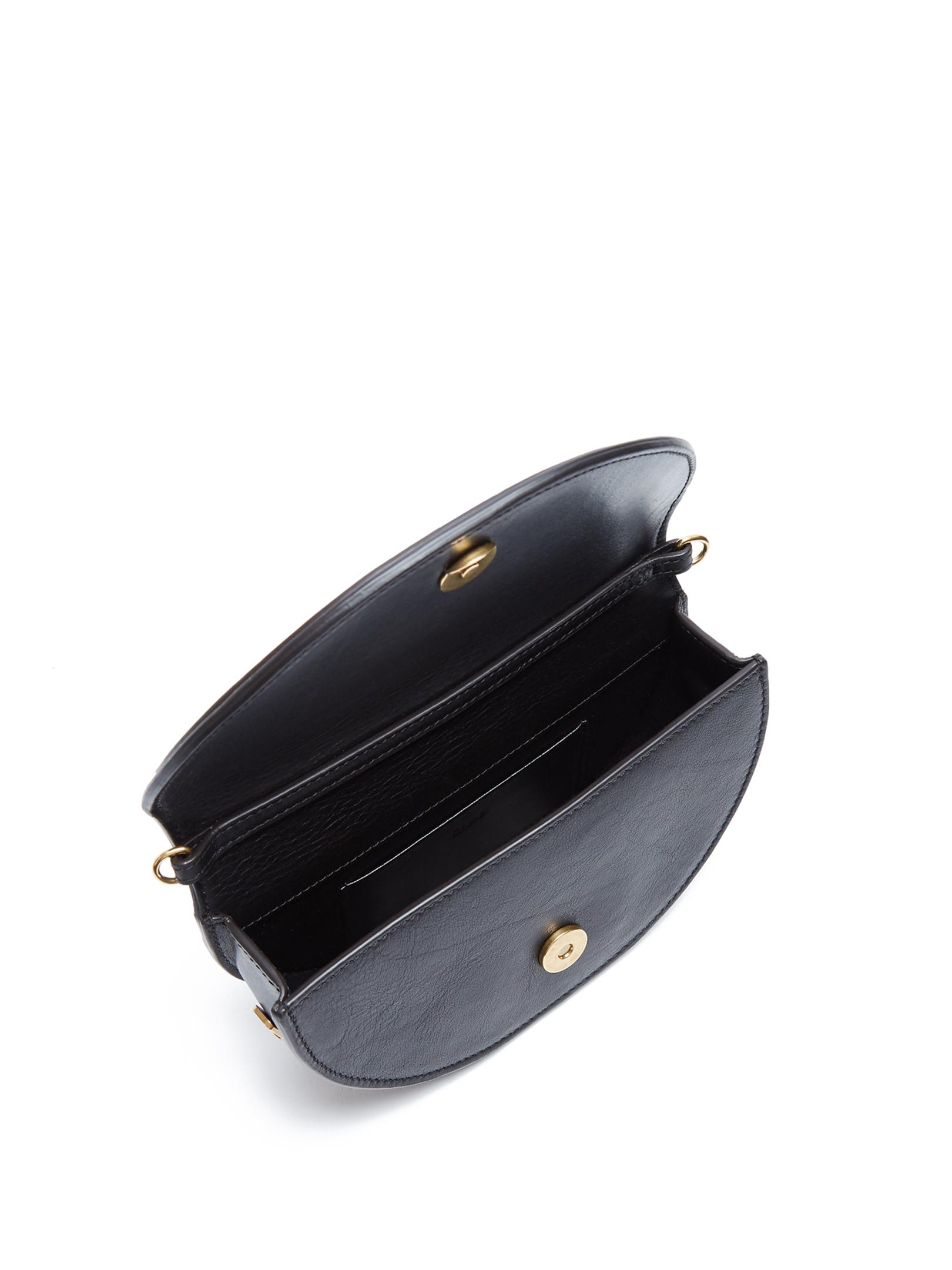 Chloé Leather Nile Minaudière Small Cross-body Bag in Black