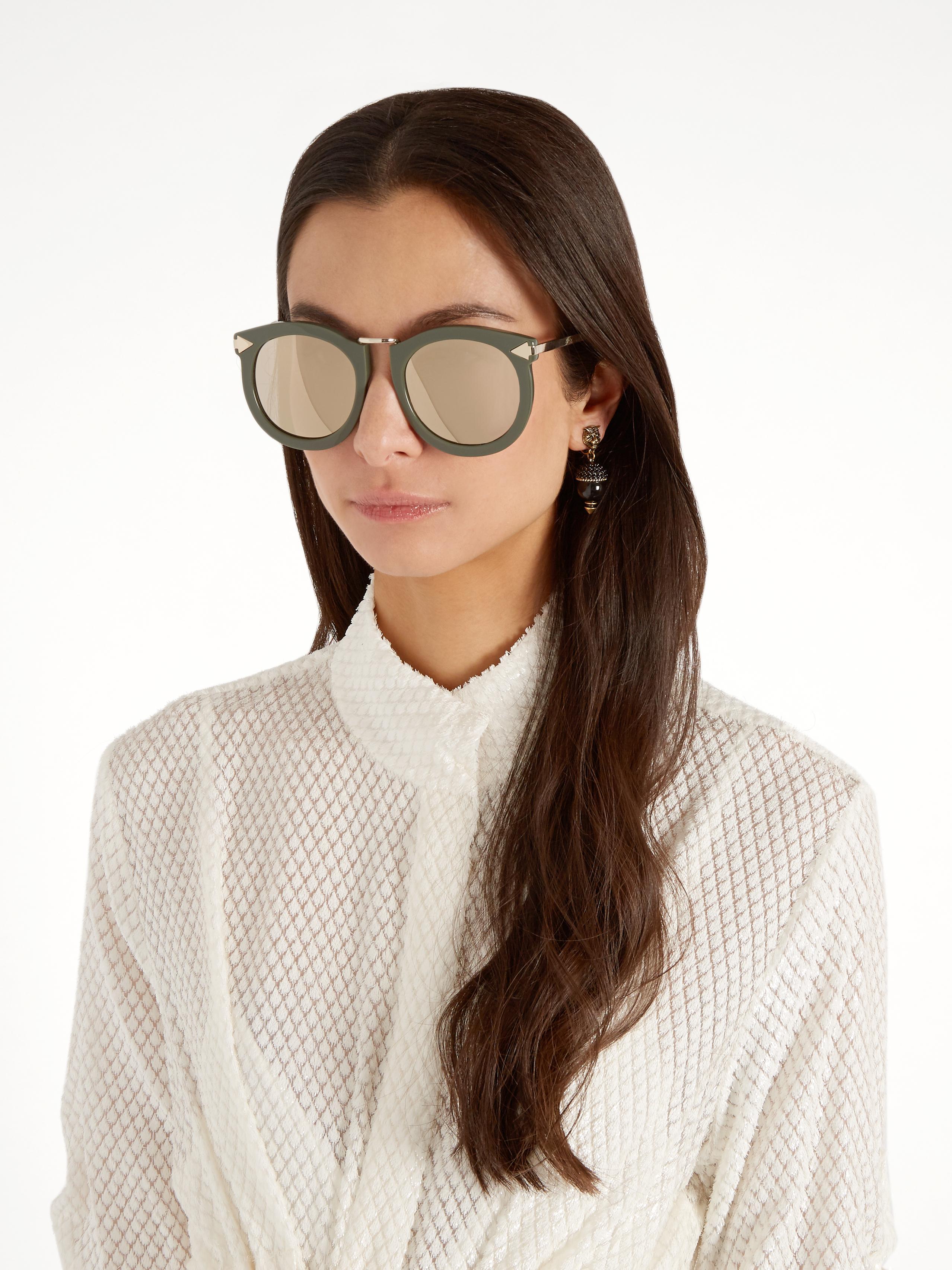 Karen Walker Super Lunar Oversized Sunglasses in Khaki (Natural)