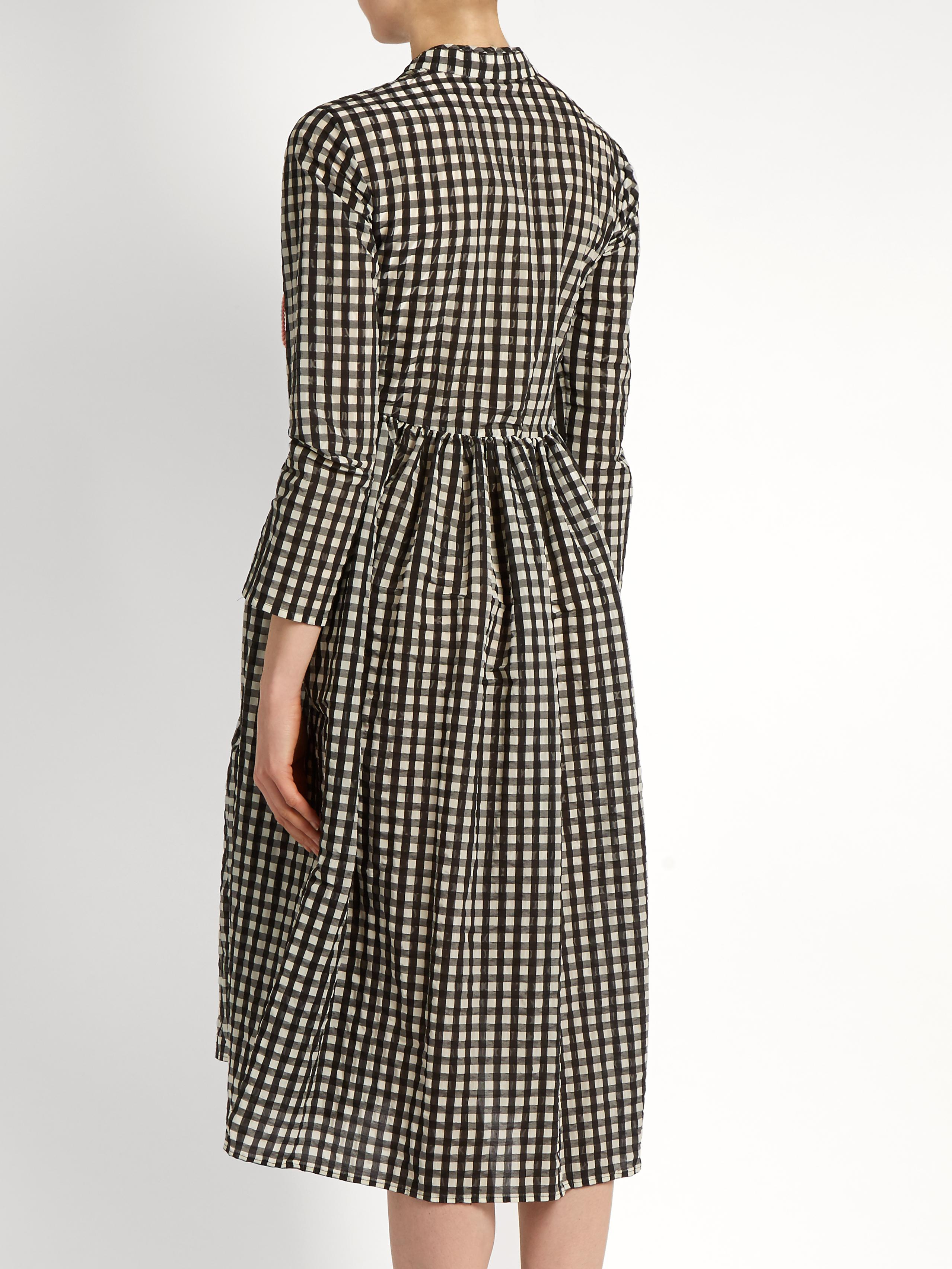 6ee87d38f04 Shrimps Hermione Gingham Dress in Black - Lyst