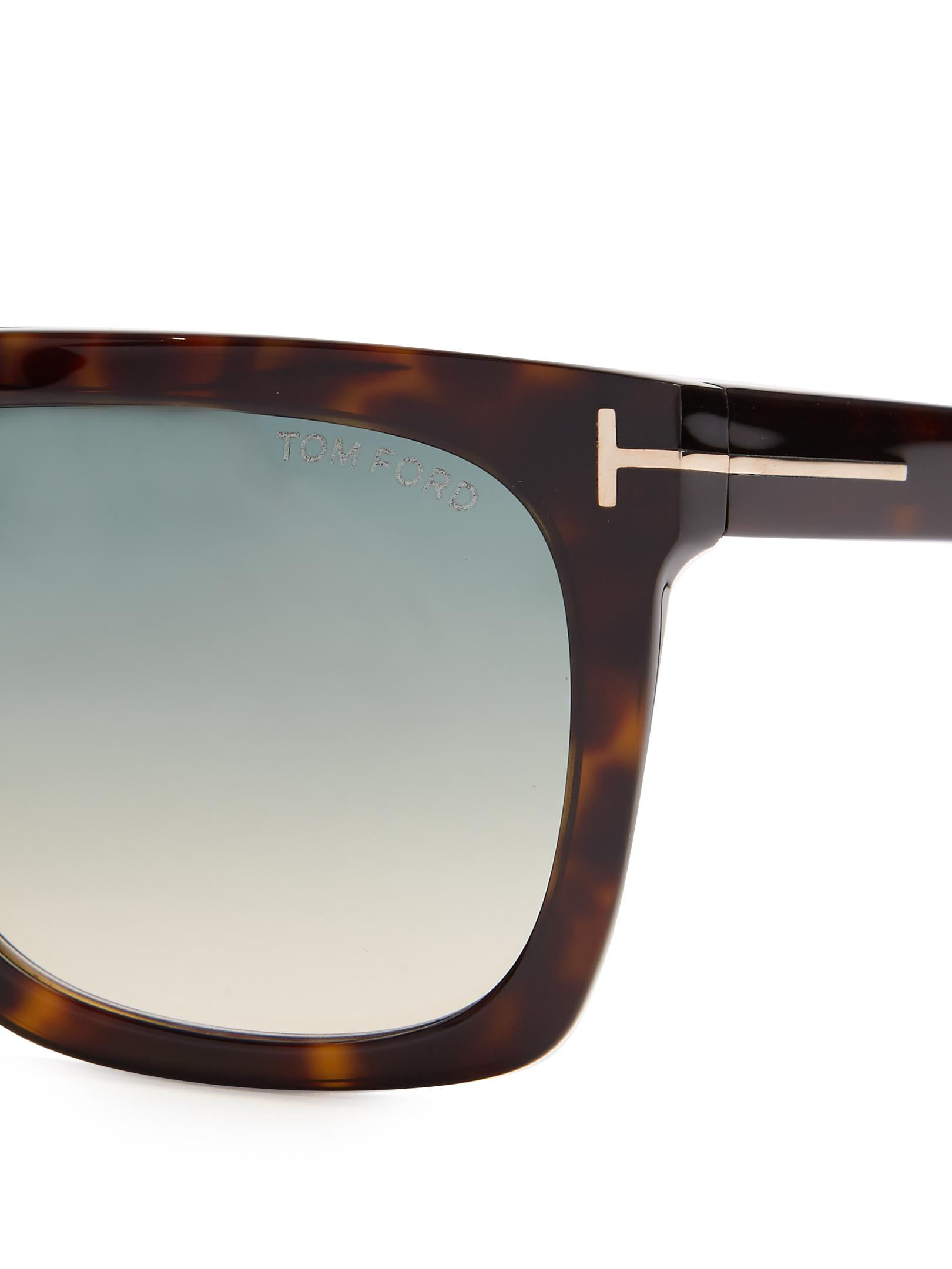 40b220d8f5 Lyst - Tom Ford Morgan Flat-top Sunglasses in Brown