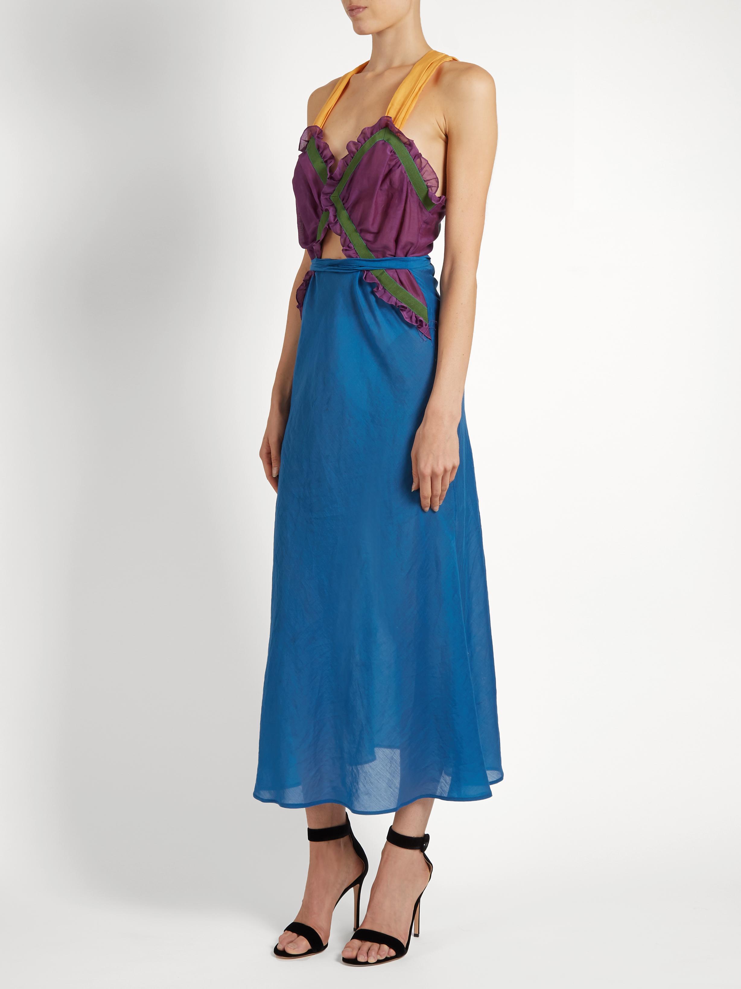 Lyst Attico Juliana Dress In Blue