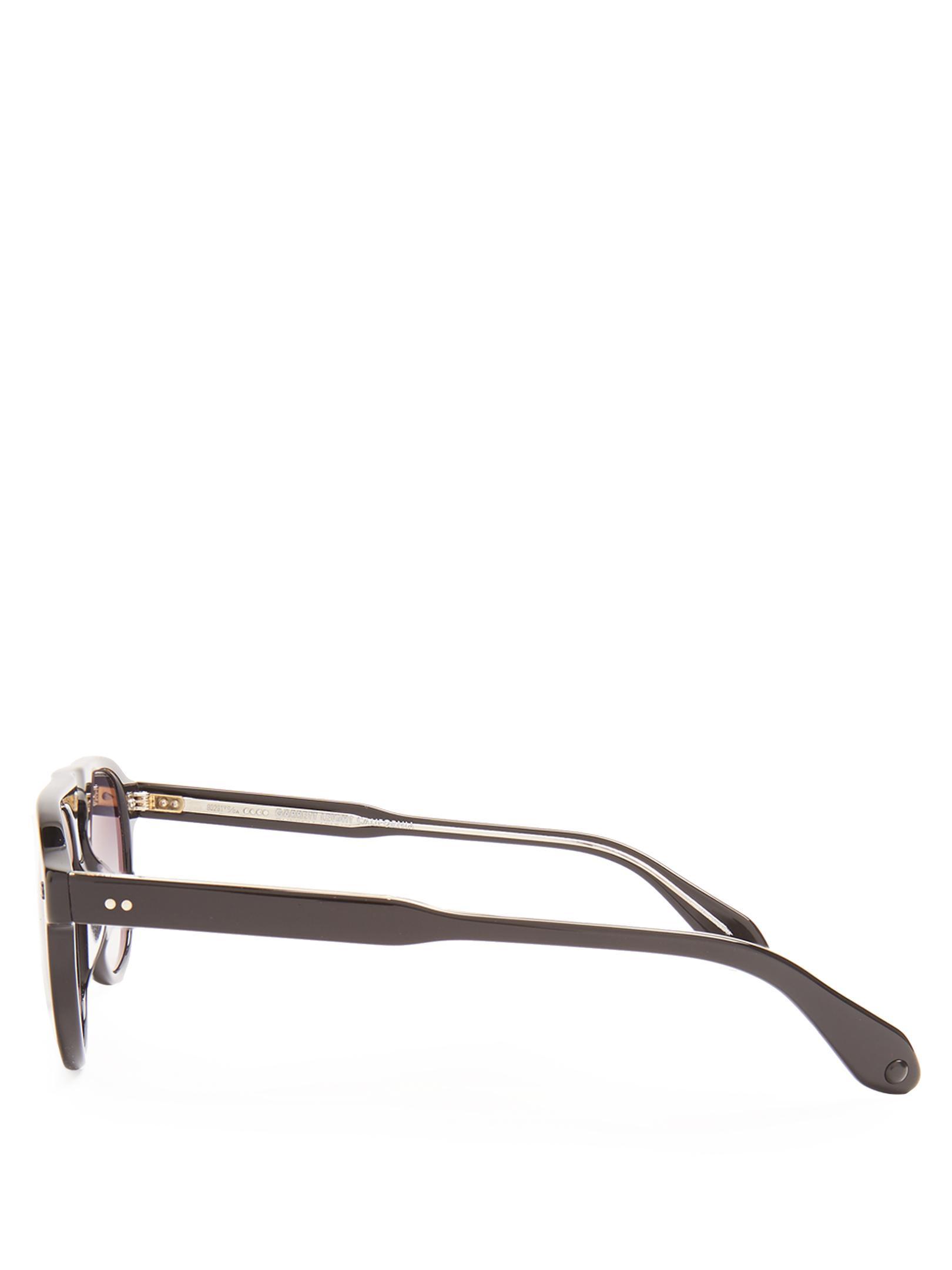 Lyst Garrett Leight Harding Square Frame Sunglasses For Men
