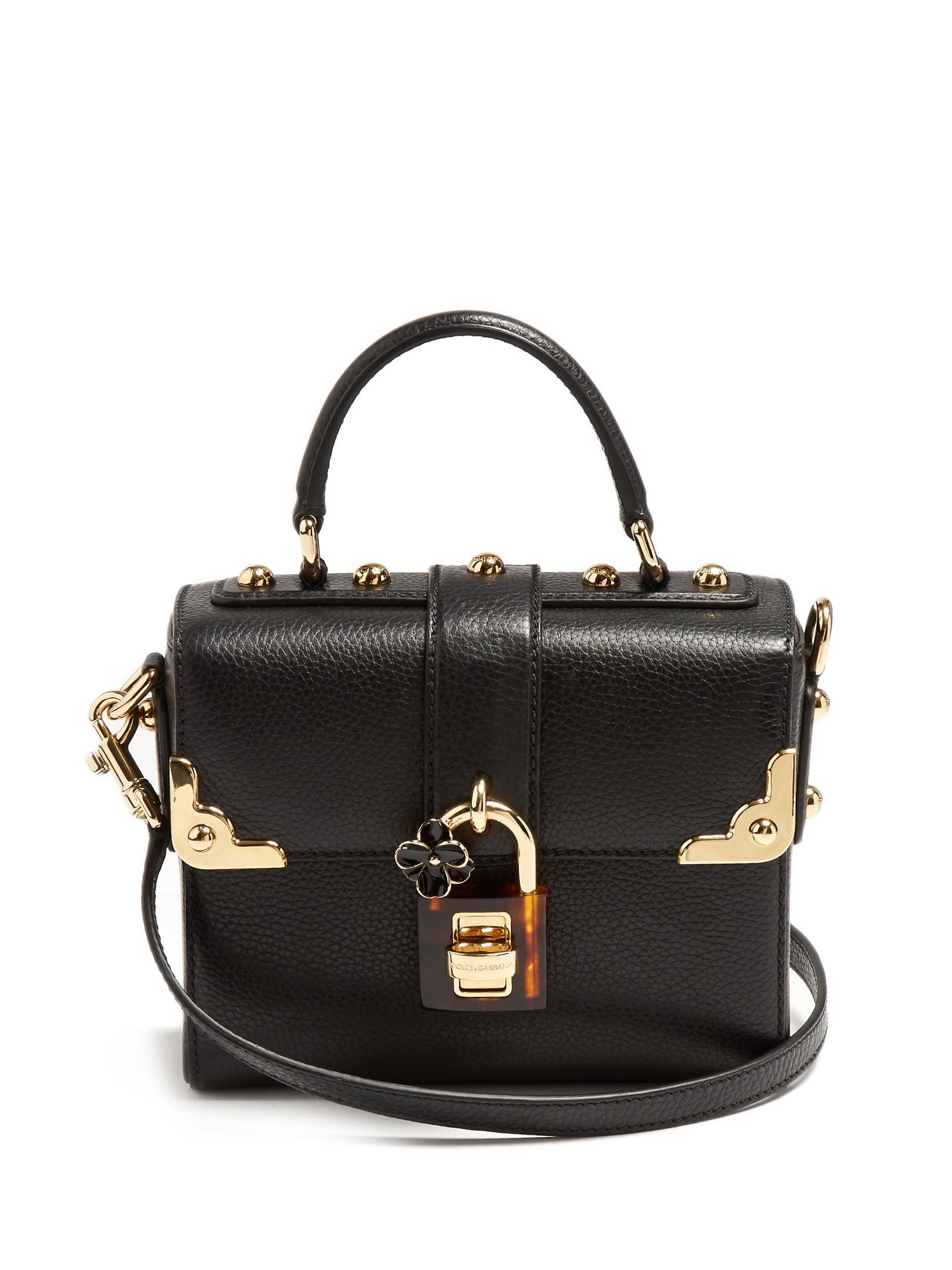 e104d853b0 Lyst - Dolce   gabbana Dolce Soft Grained-leather Bag in Black