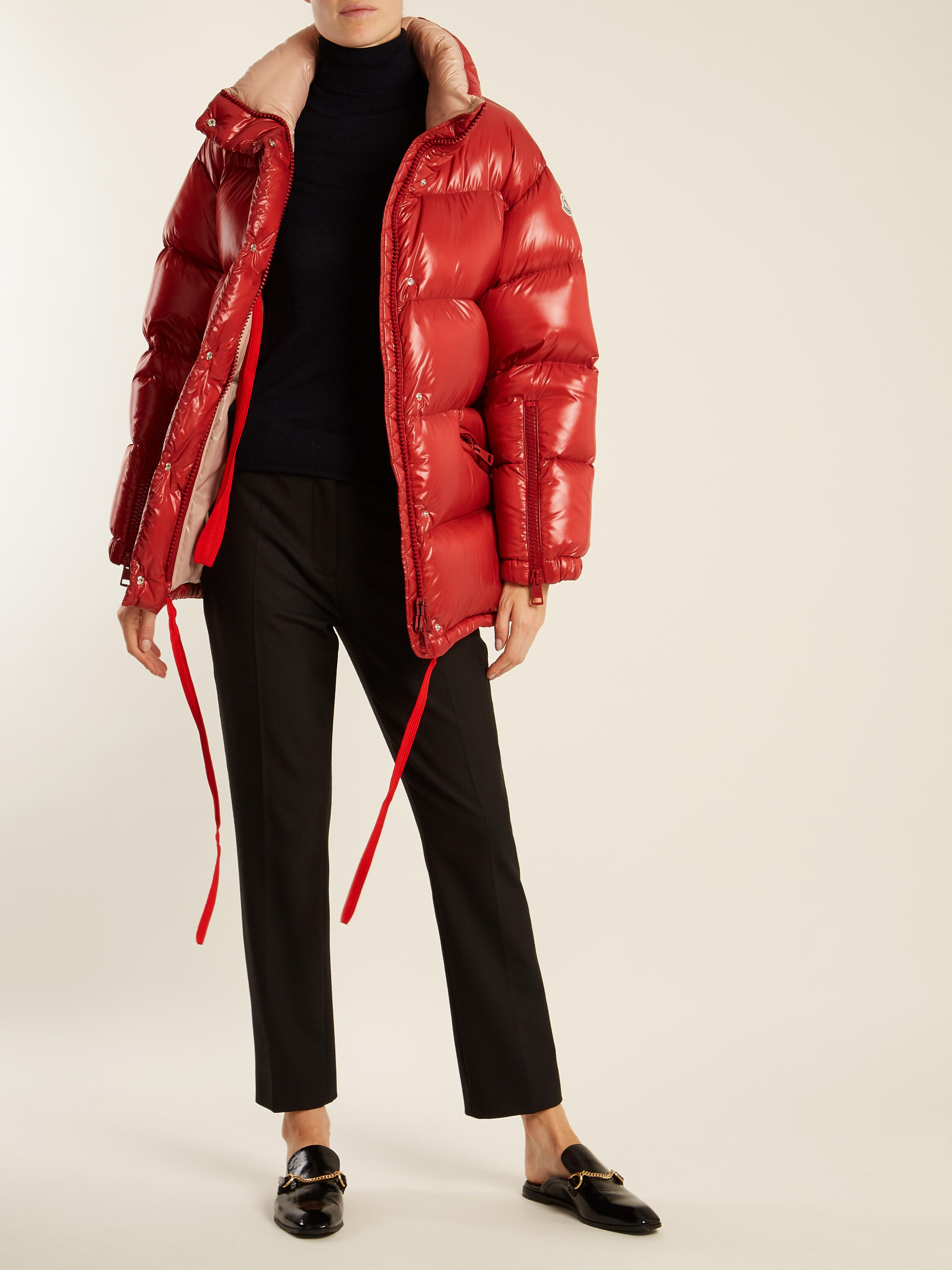 Lyst Moncler Callis Quilted Down Jacket In Red