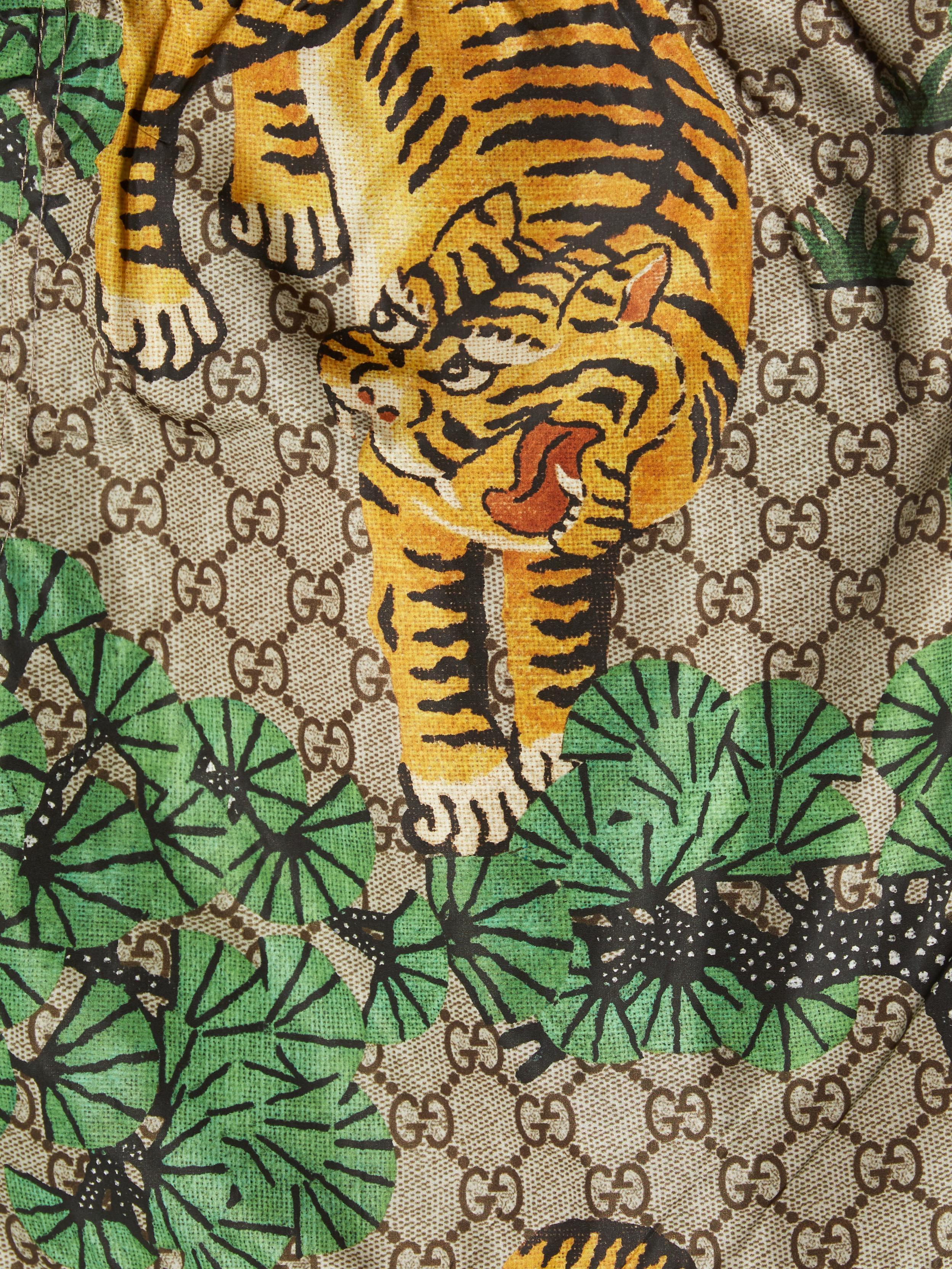 c47b1592b86f1 Gucci Bengal-print Swim Shorts in Green for Men - Lyst