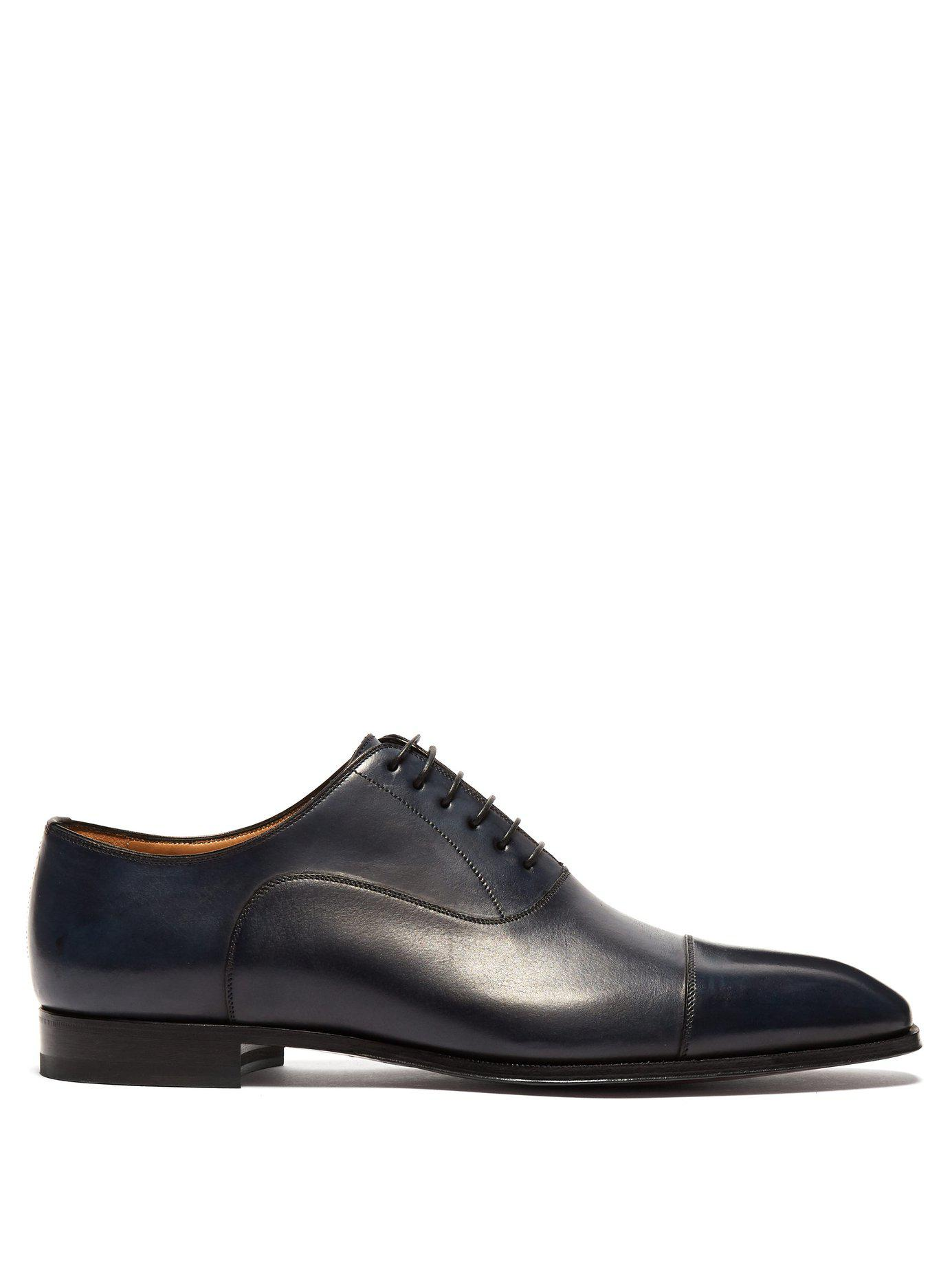 577892834bb Lyst - Christian Louboutin Cousin Greg Leather Oxford Shoes in Blue ...