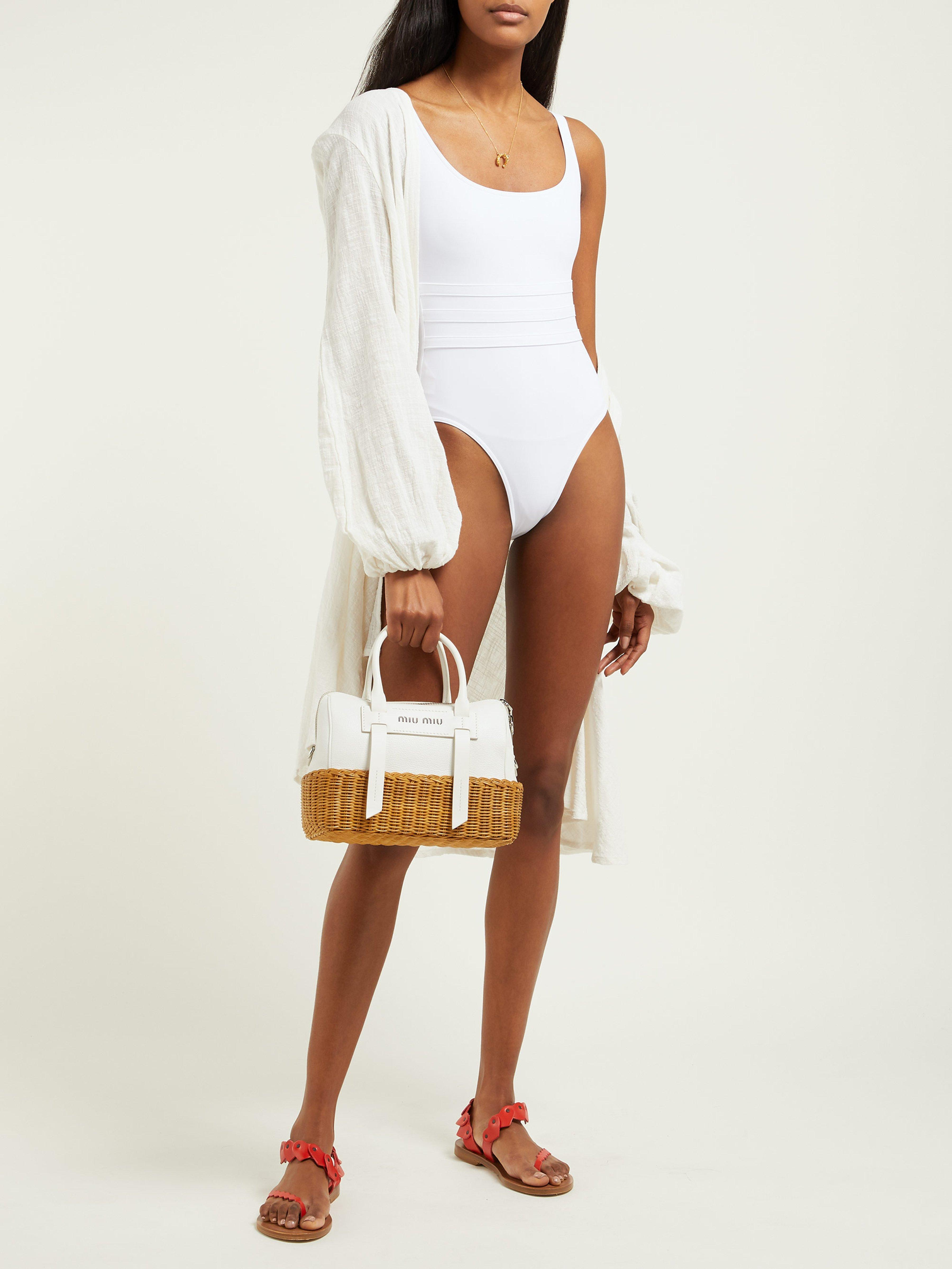 4309b0decb0 Eres Duni Asia Scoop Neck Swimsuit in White - Lyst