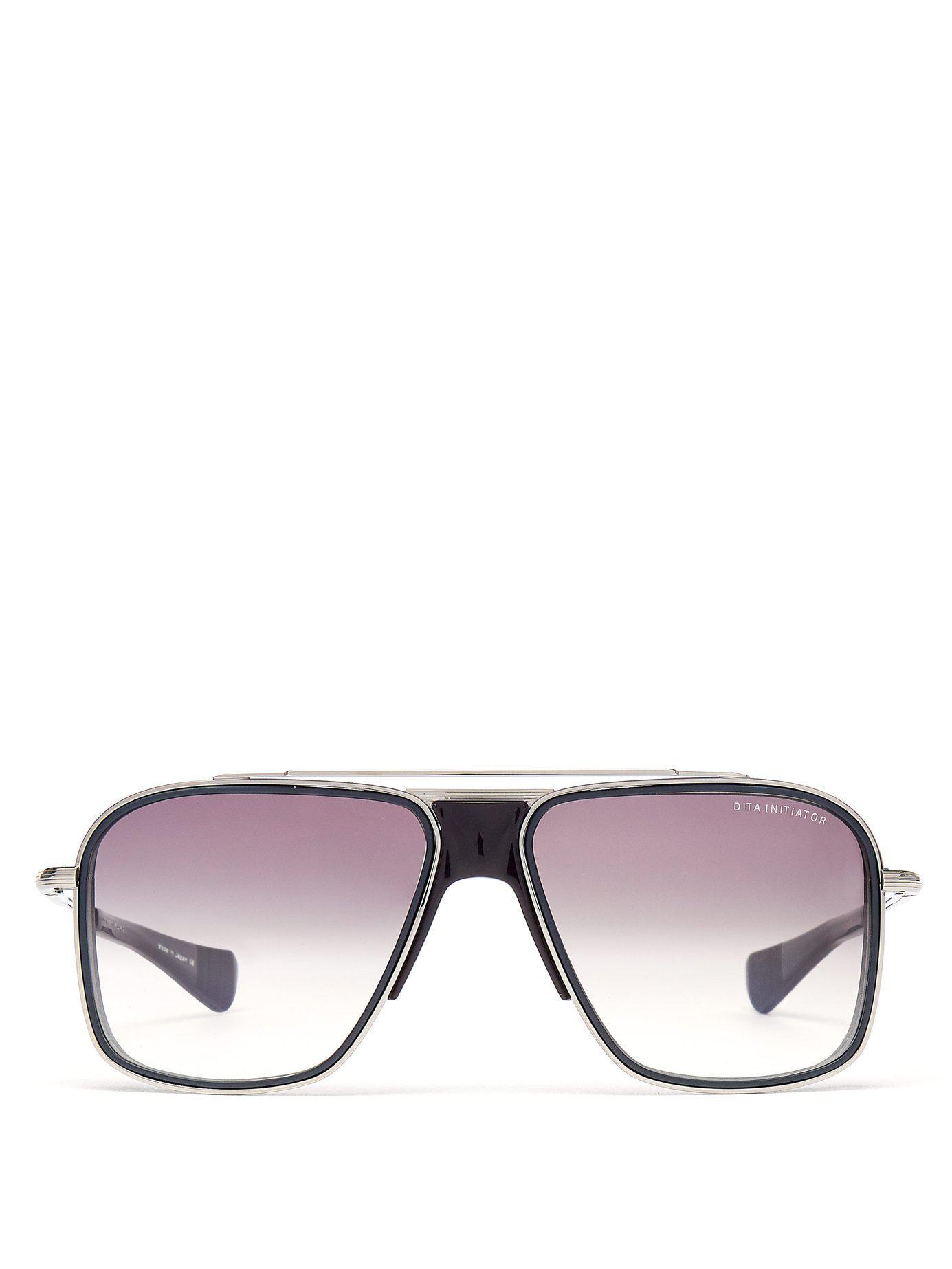b7779debcfe Lyst - Dita Eyewear Initiator Aviator D Frame Titanium Sunglasses in ...