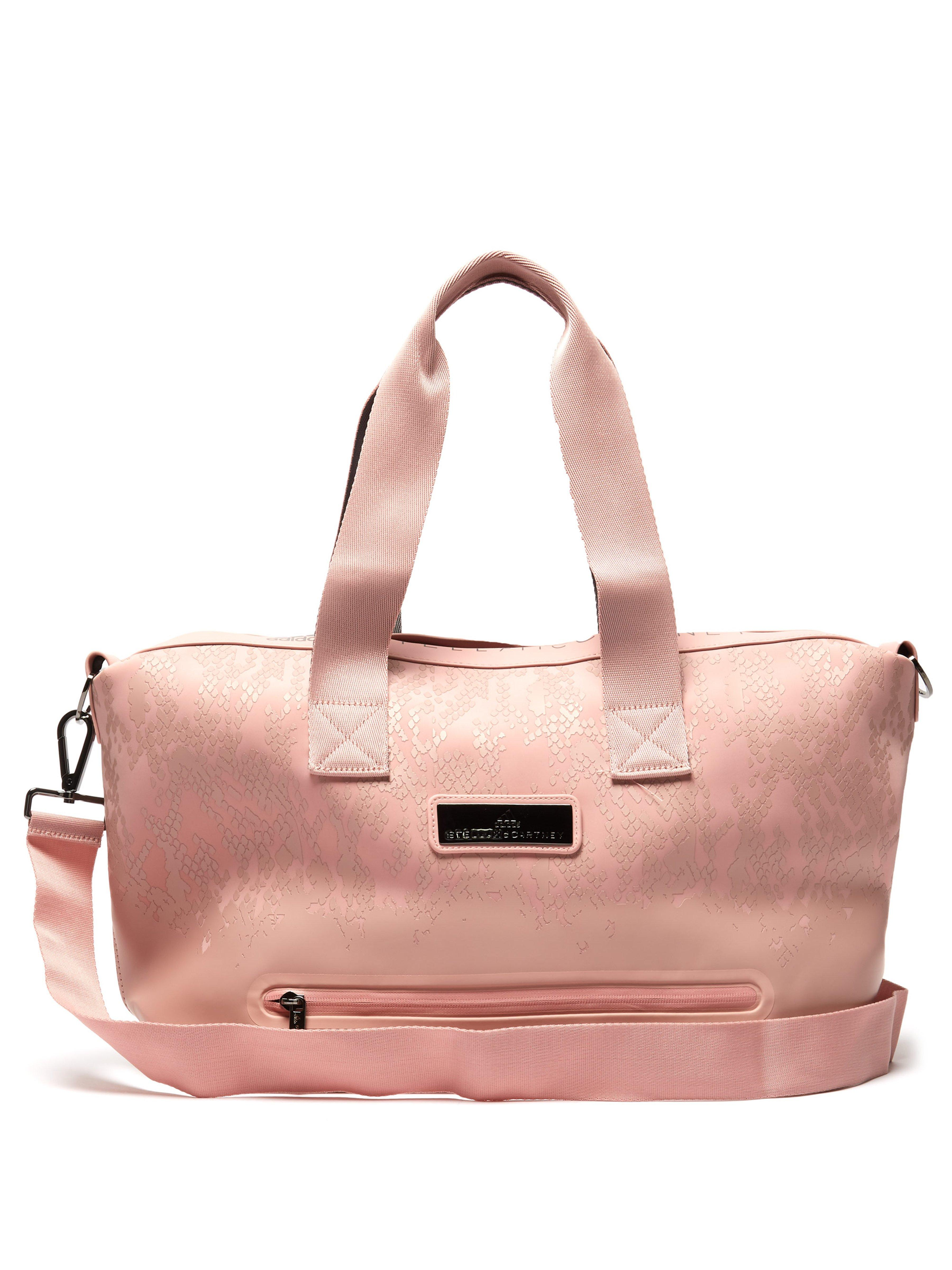 adidas By Stella McCartney. Women s Pink Studio Snakeskin Effect Print  Holdall fc0c783862e5d
