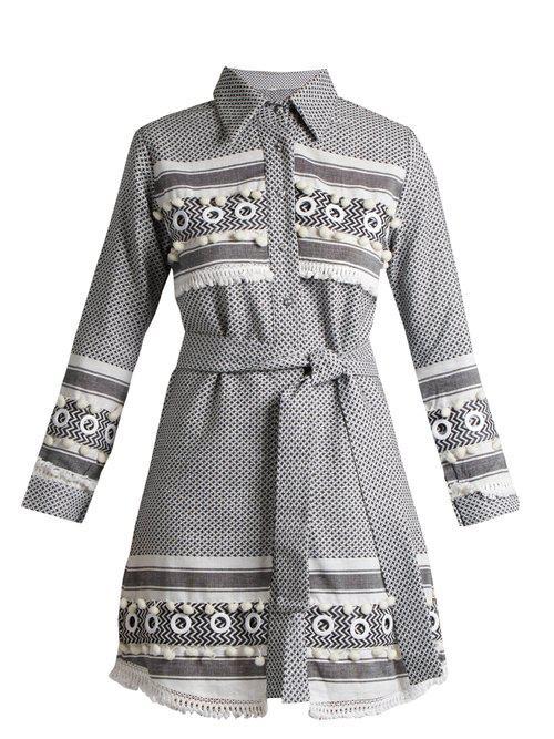 Menashe tassel-embellished cotton shirtdress Dodo Bar Or EmkGYaN