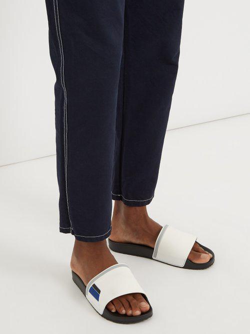 8d982305d8327 Prada - Multicolor Logo-embossed Rubber Pool Slides for Men - Lyst