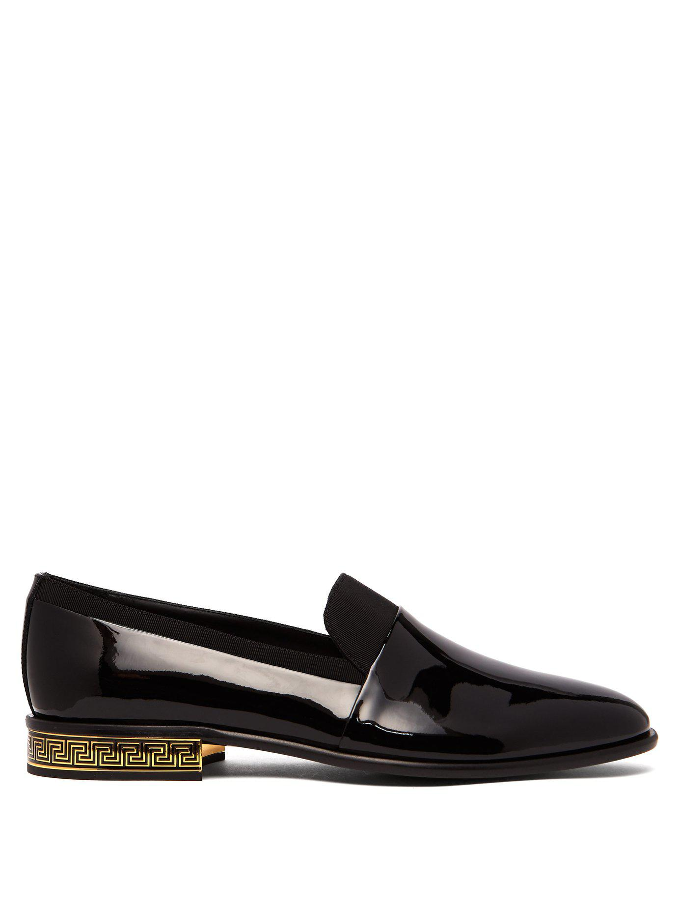 04e673c4405 Lyst - Versace Patent Leather Loafers in Black for Men