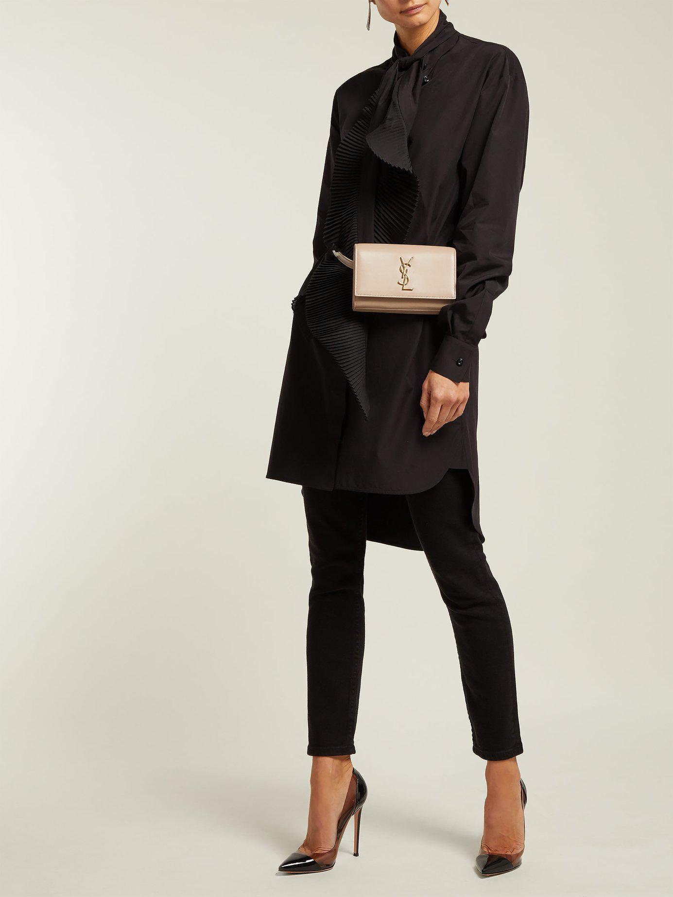 Lyst - Saint Laurent Kate Leather Belt Bag in Natural 9581f11a9e654