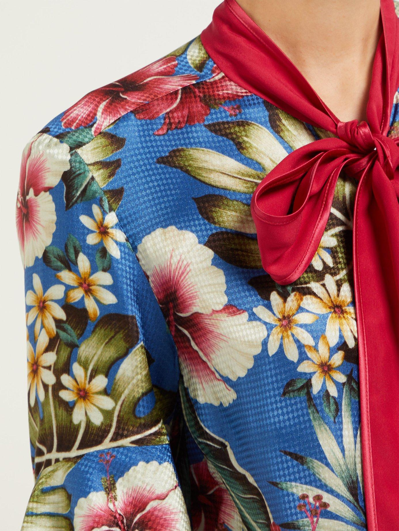 F R S For Restless Sleepers Acli Hawaiian Floral Print Jacquard