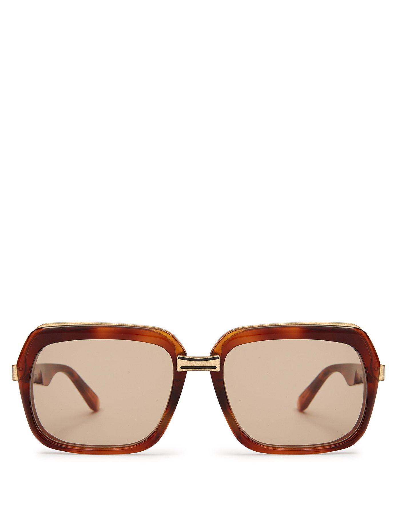 d5d1cec0878 Céline. Women s Oversized Square Frame Acetate Sunglasses