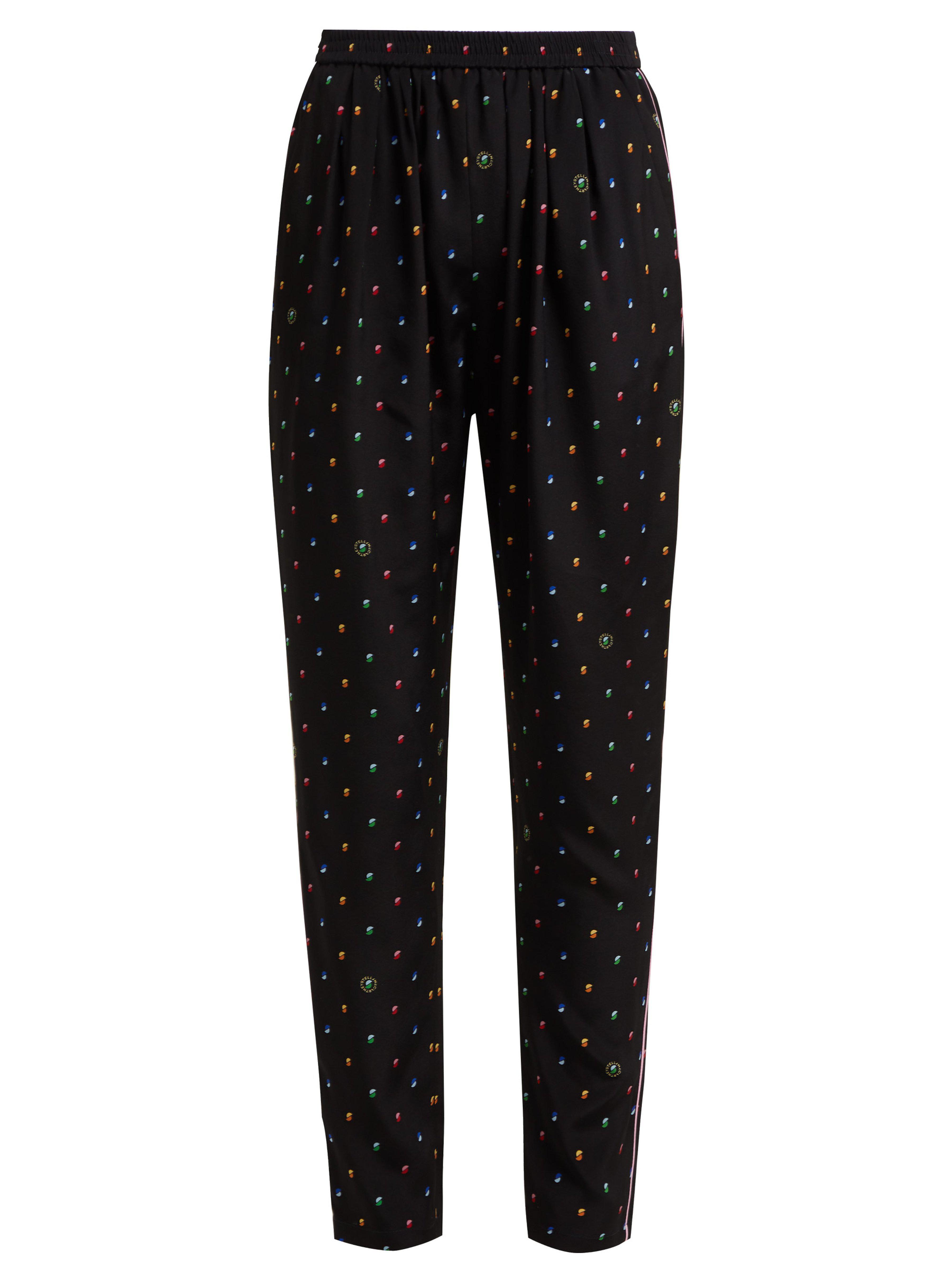 707678e82ef9 Stella Mccartney Christine Print Silk Trousers in Blue - Lyst