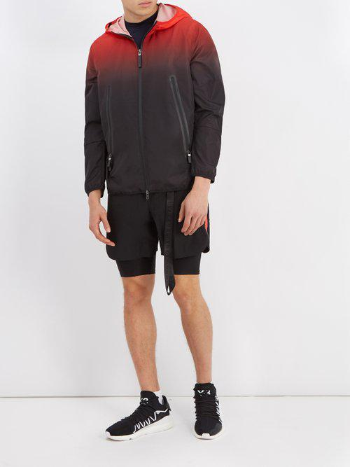 Neil Barrett Synthetic Degradé Hooded Shell Windbreaker Jacket for Men