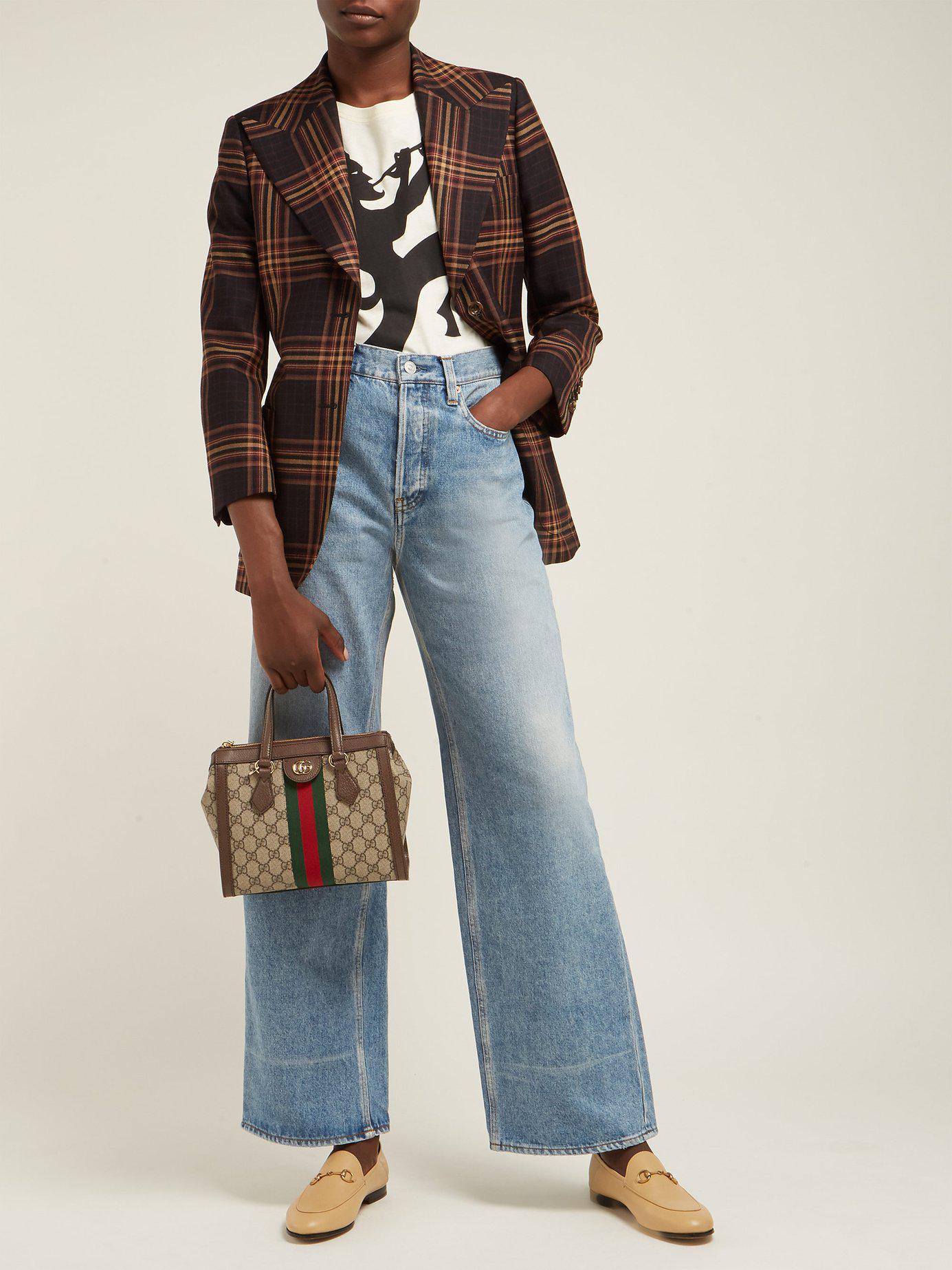 8d3f947e09d Lyst - Gucci Ophidia Gg Supreme Canvas Cross Body Bag in Gray