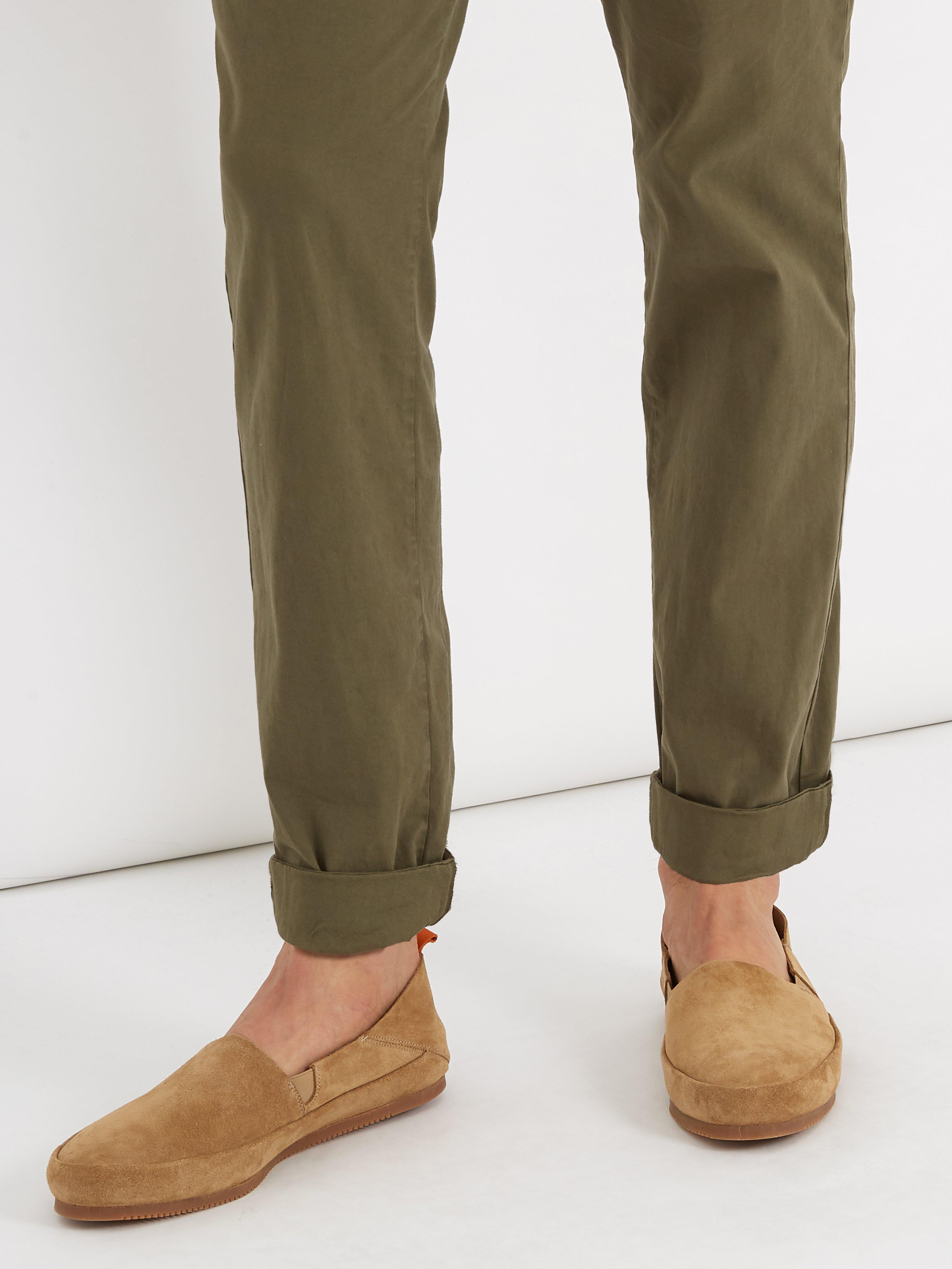 Mulo Foldable Heel Suede Loafer for Men
