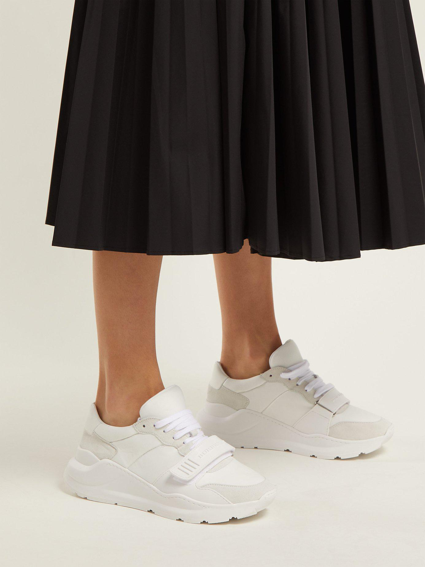 Burberry Leather Regis Low-top Trainers