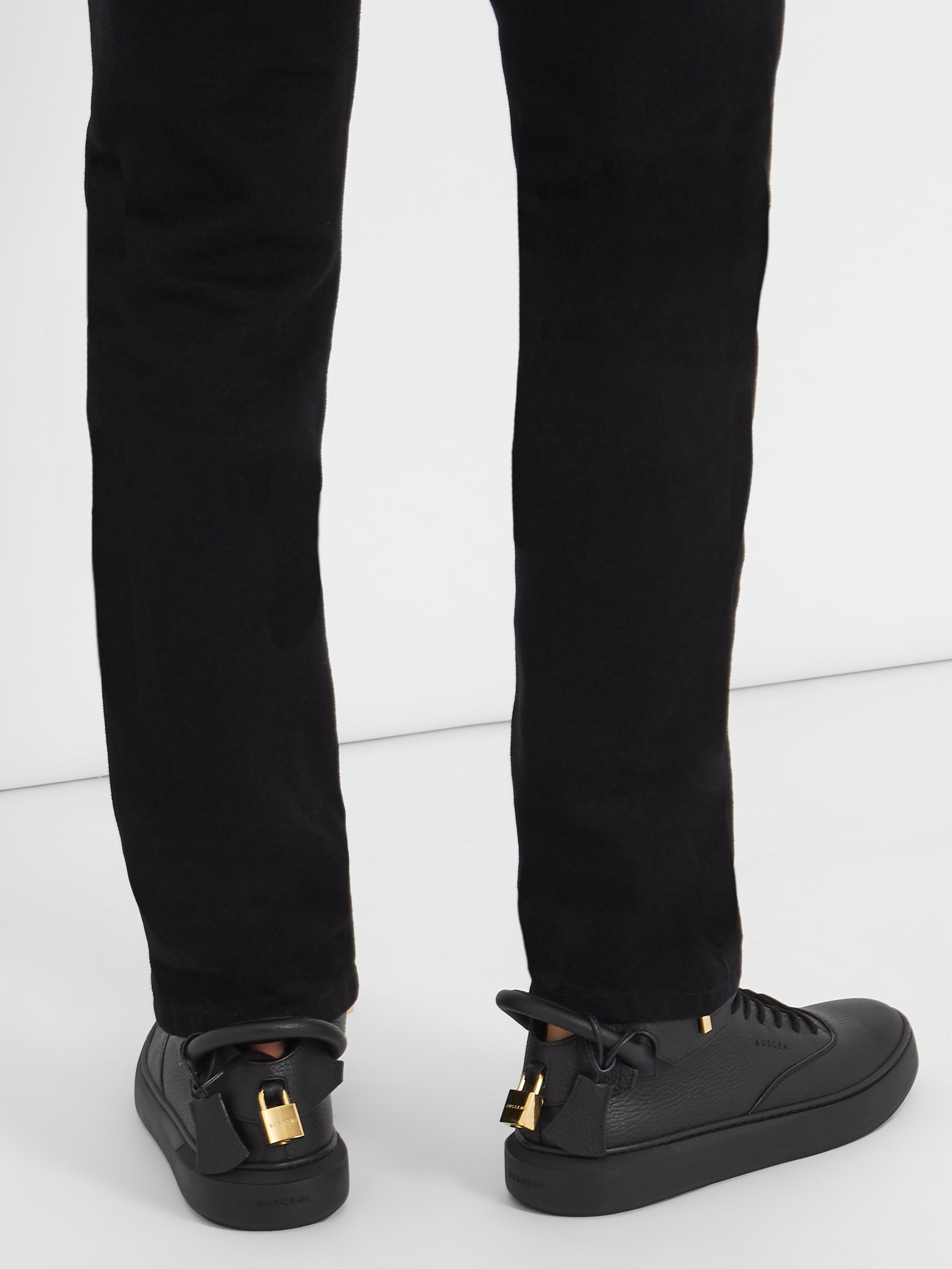 Buscemi Core Clip Leather High-top Trainers in Black for Men