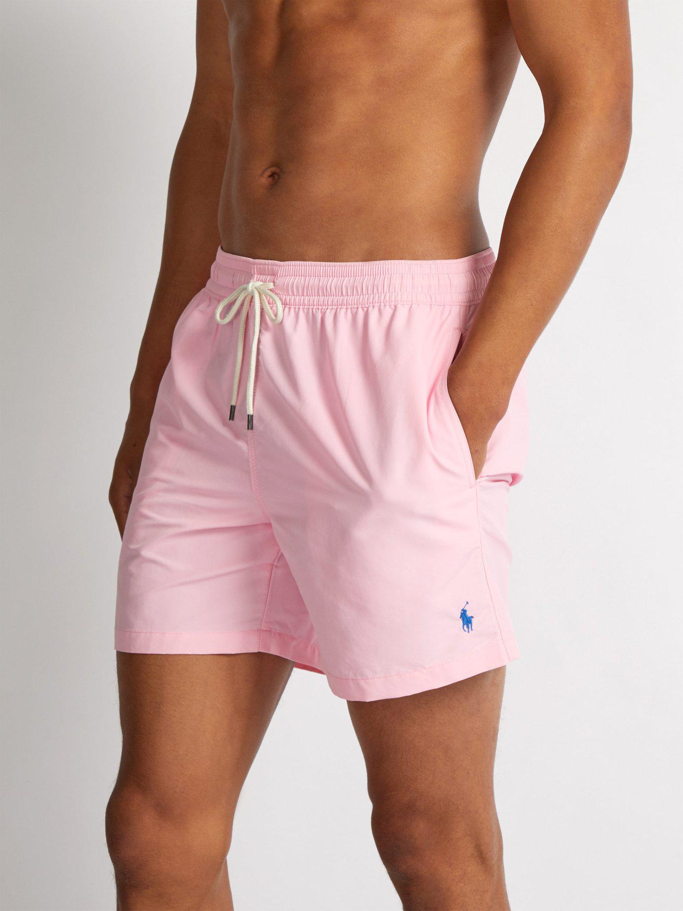 015a420840ece Lyst - Polo Ralph Lauren Traveller Swim Shorts in Pink for Men - Save 27%