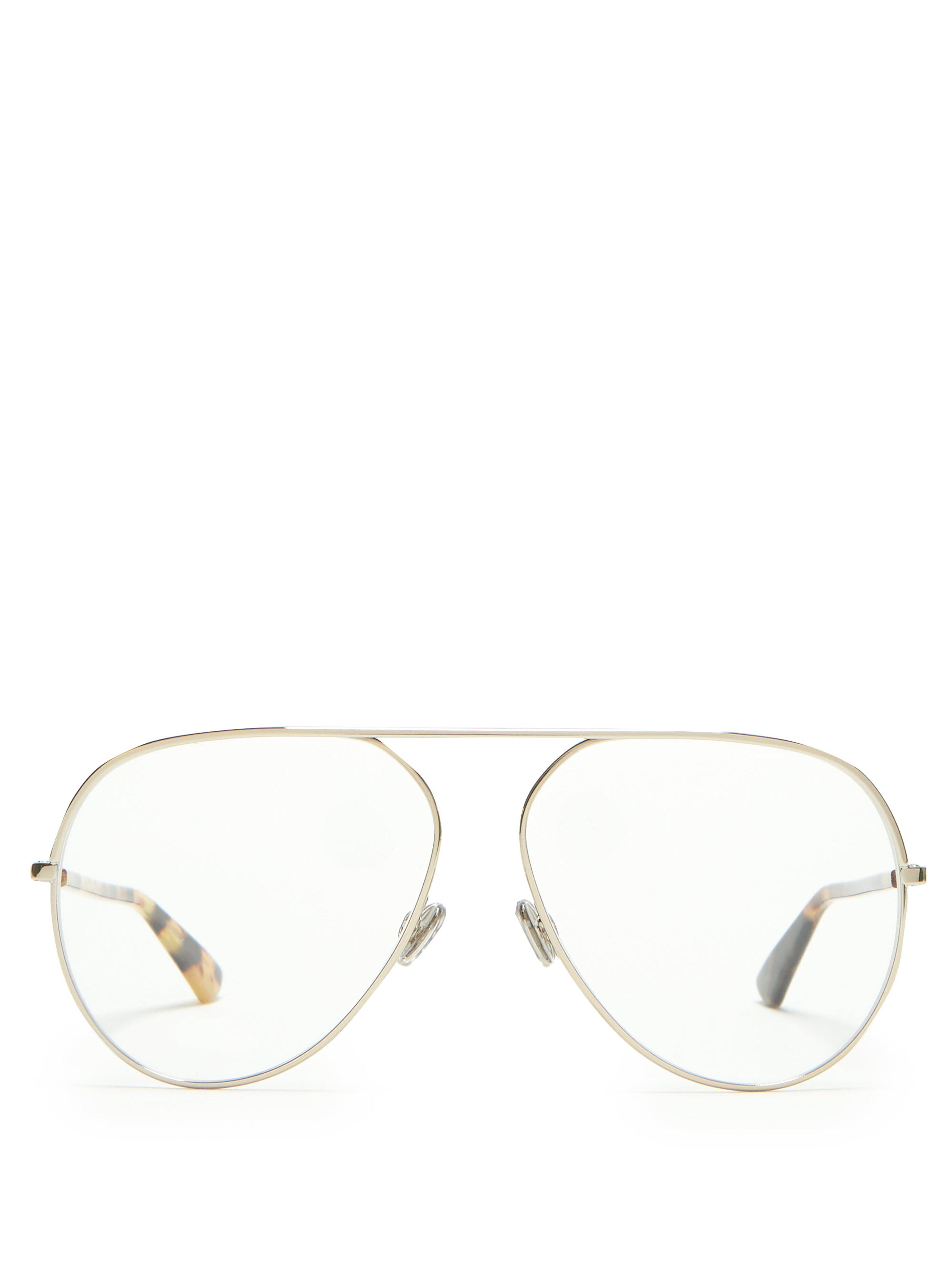 df20972efda Dior Dioressence15 Aviator Glasses in Metallic - Lyst