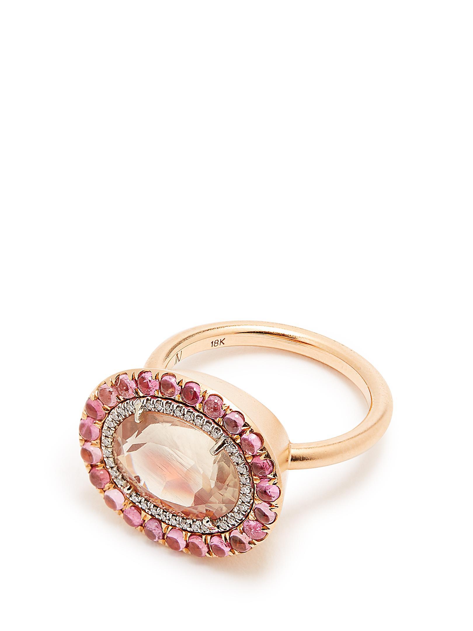 Tourmaline & rose-gold ring Irene Neuwirth lqjOu