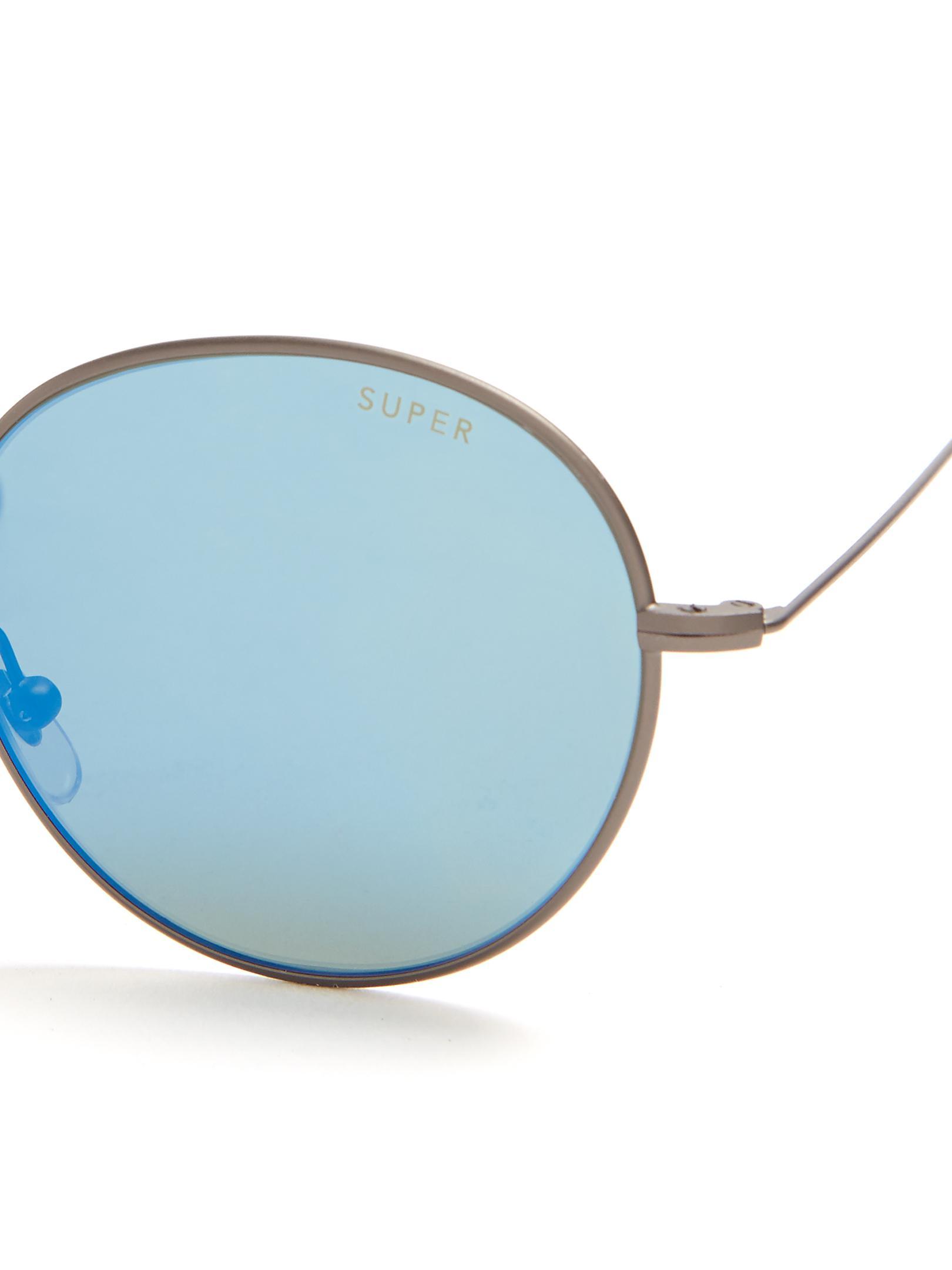 Lyst - Retrosuperfuture Wire Zero Mirrored Sunglasses in Blue for Men