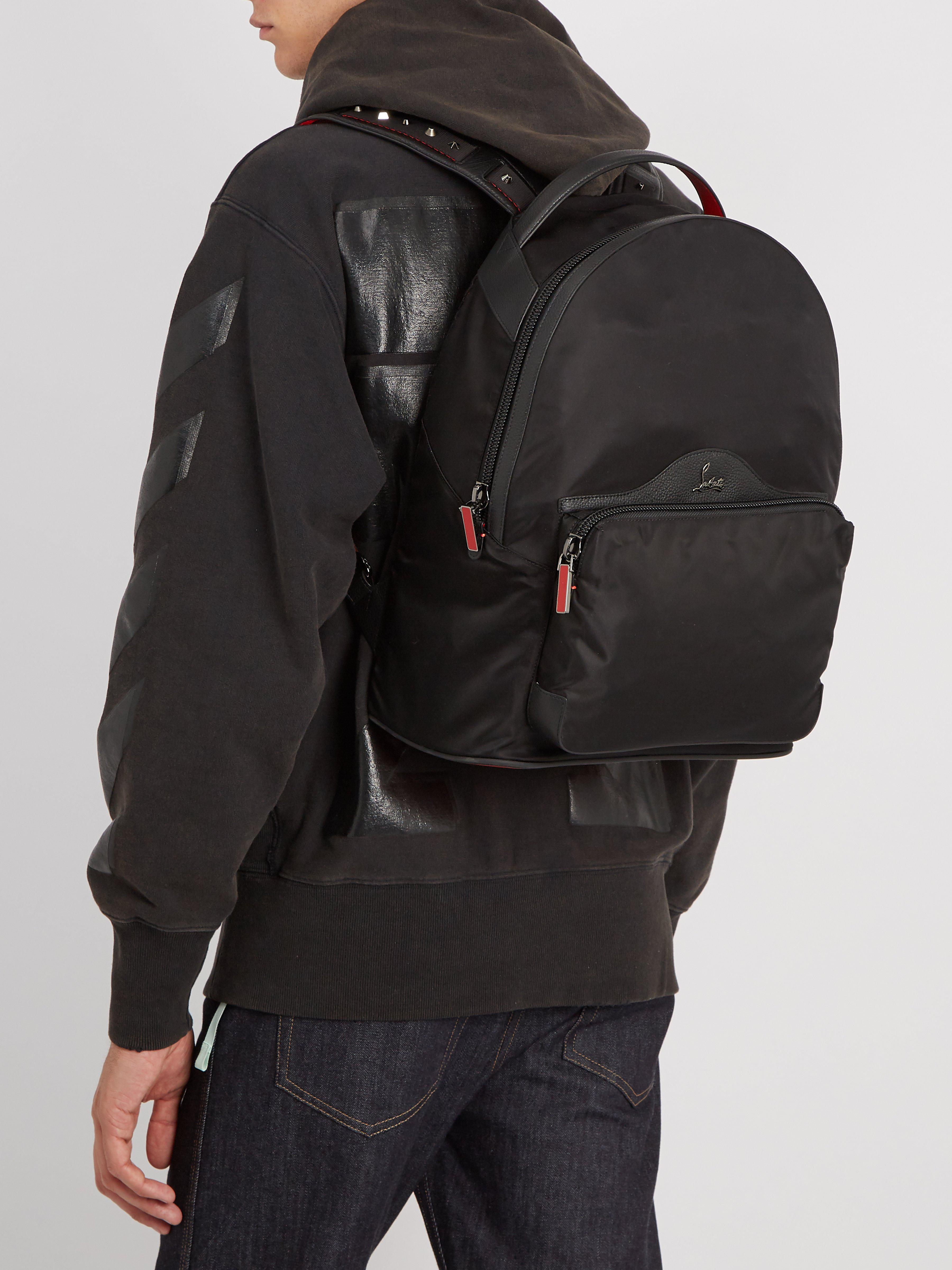 c5f9b1a578c Christian Louboutin Backloubi Spike Embellished Backpack in Black for Men -  Lyst