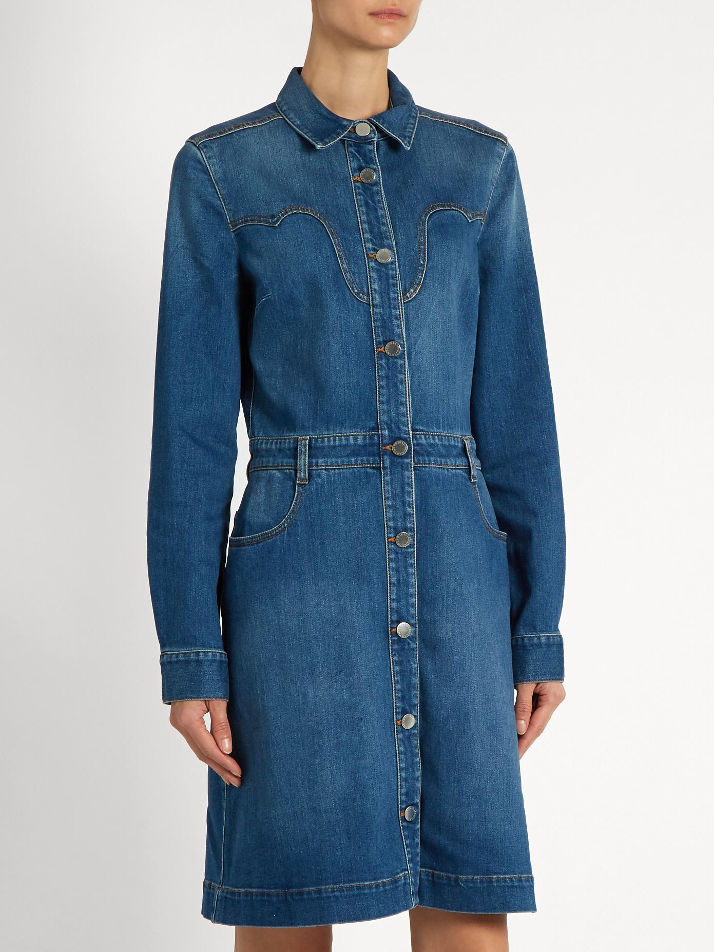 d5eaa07d91 Denim Wrap Dress Stella Mccartney