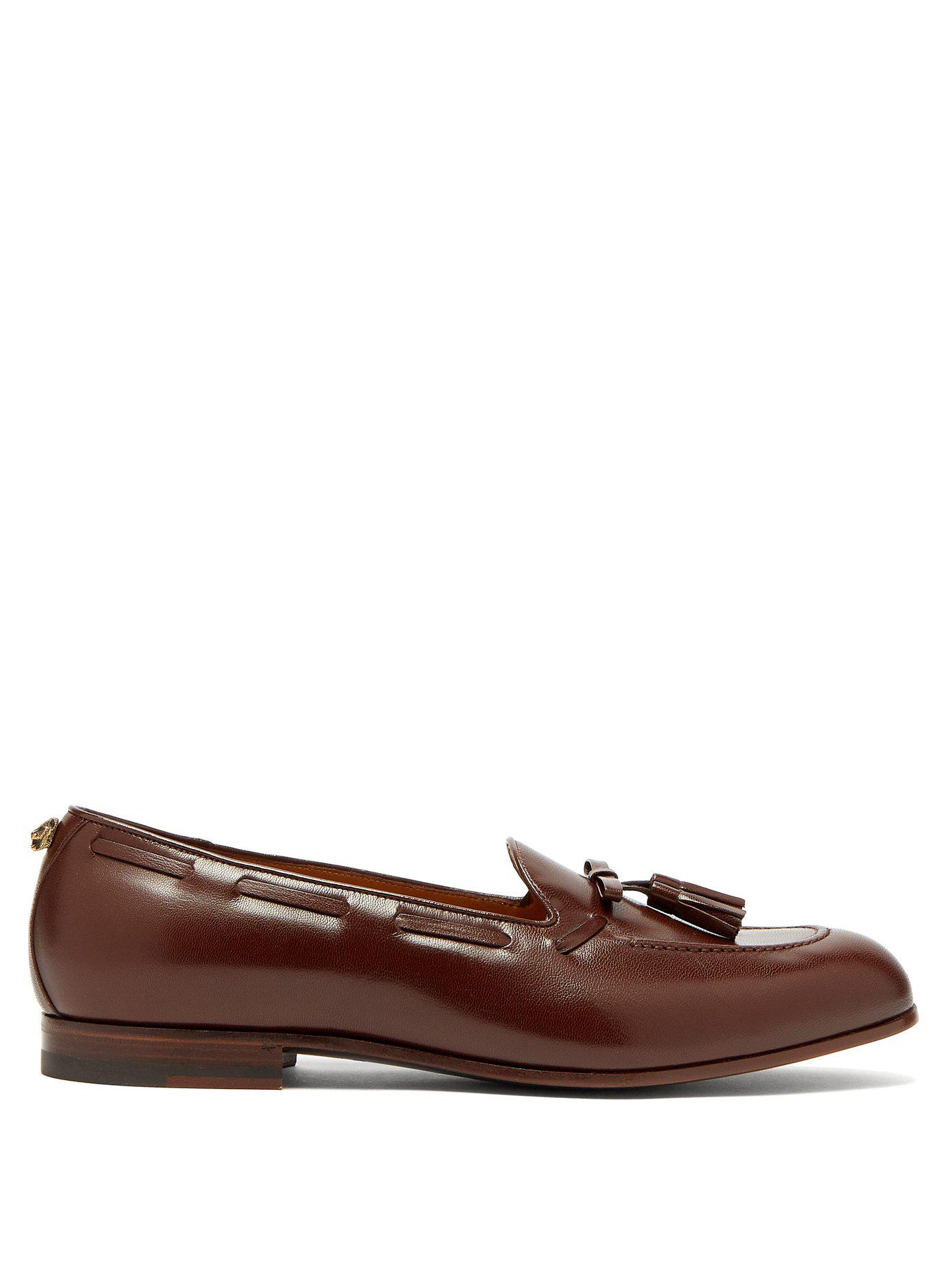 96d805d423f Lyst - Gucci Loomis Leather Tassel Loafers in Brown for Men