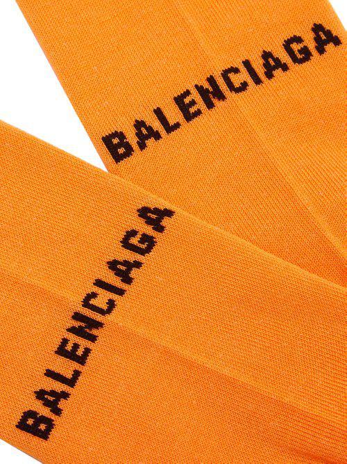 Balenciaga Logo-intarsia Cotton-blend
