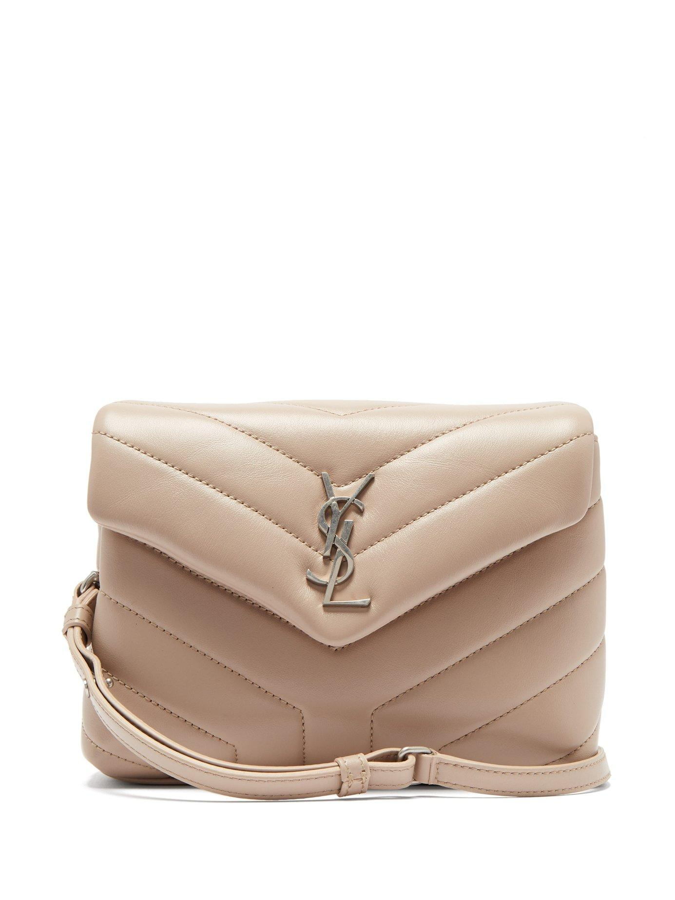 ae4aaa1b5272 Saint Laurent. Women s Natural Loulou Small Quilted Leather Cross Body Bag