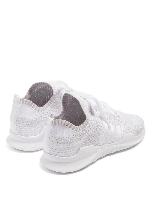 adidas Originals Rubber Eqt Knit Low-top Trainers in White for Men