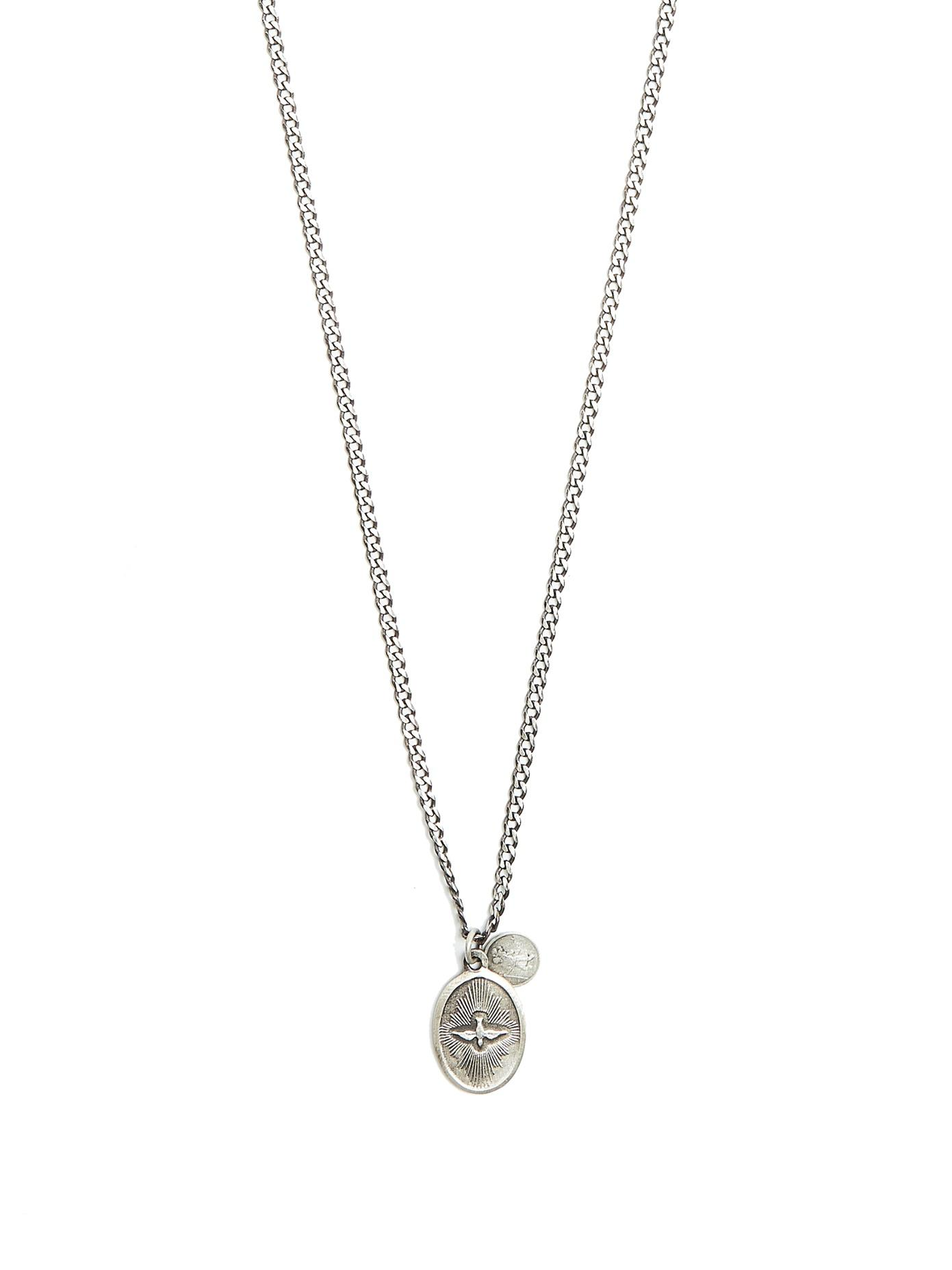 polished modesens miansai necklace pendant dove silver product