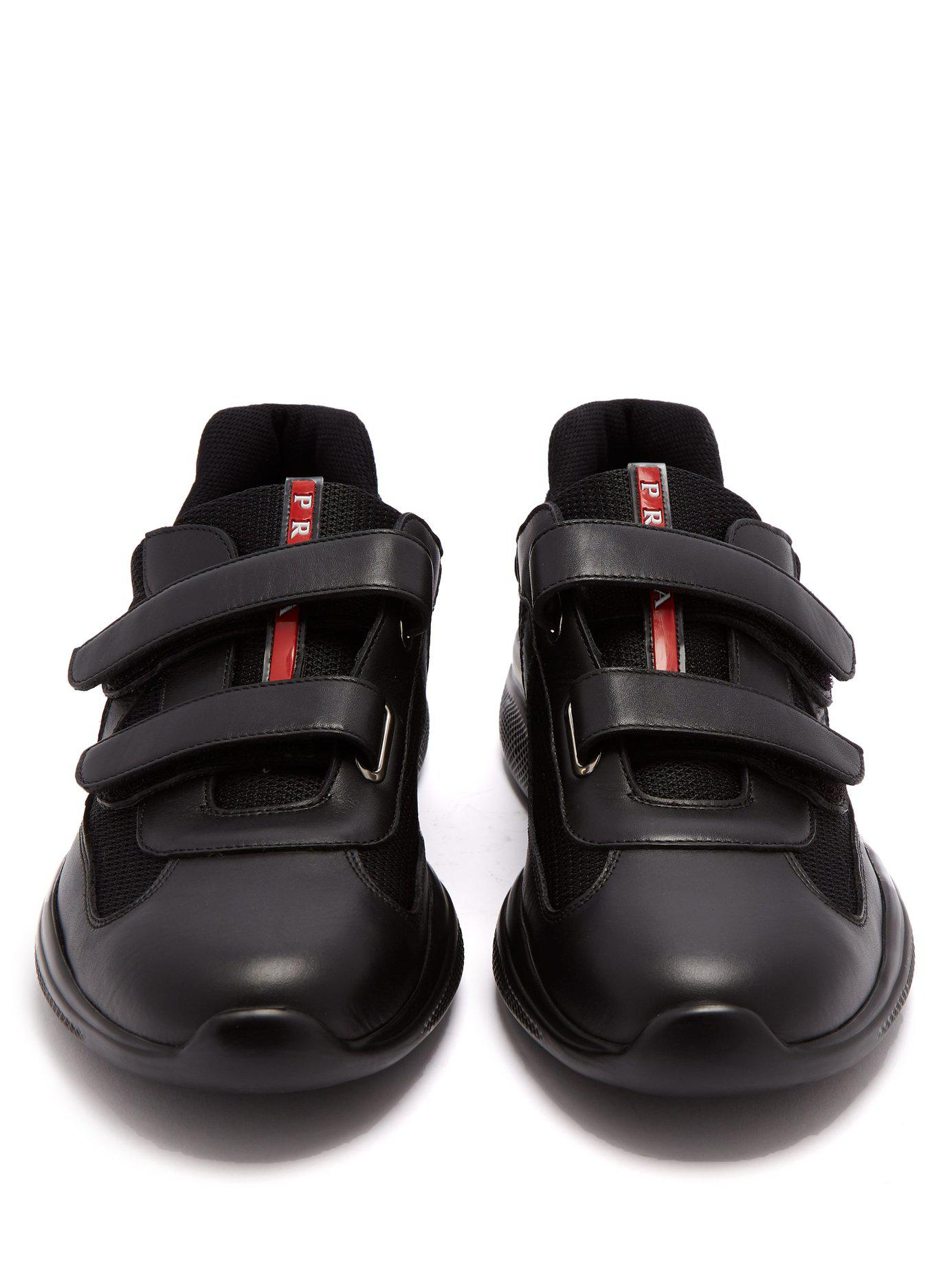 Cup Velcro-strap Trainers in Black