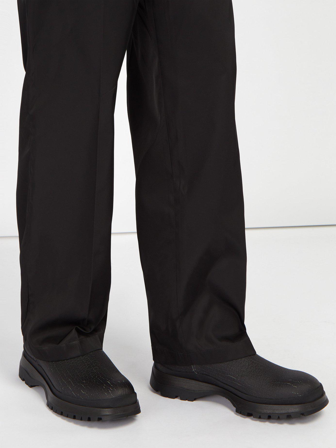 f40fd478929b Prada Brixxen Neoprene-panelled Leather Chelsea Boots in Black for ...