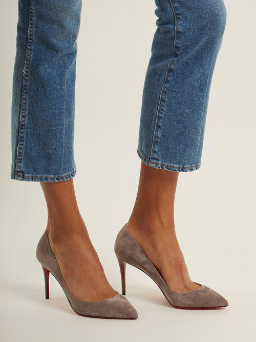 quality design 9fc04 924ca Christian Louboutin Pigalle Follies 85mm Suede Pumps in ...