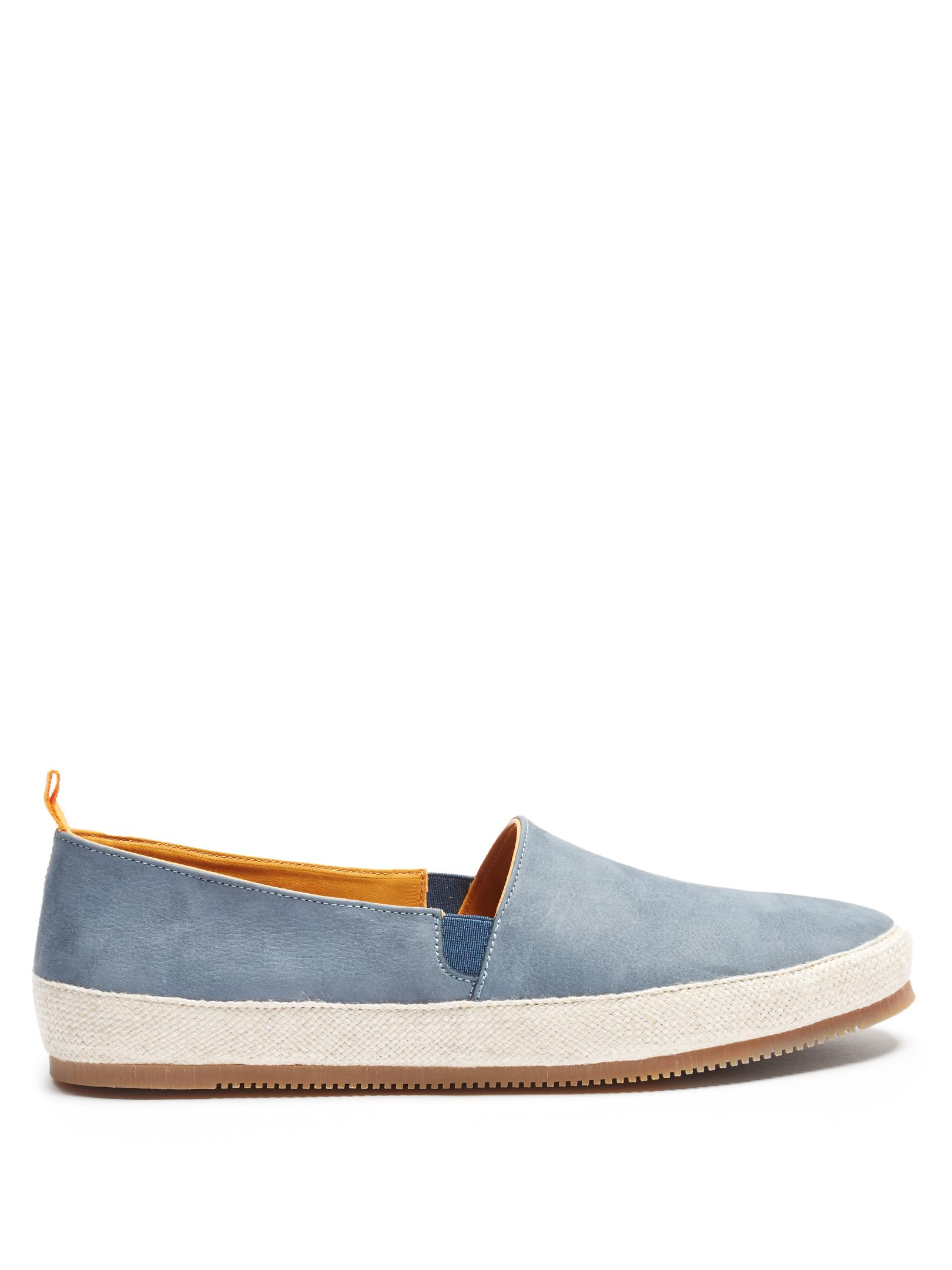 Shearling-lined Suede Slippers - Storm blueMulo TeGF8skZ1
